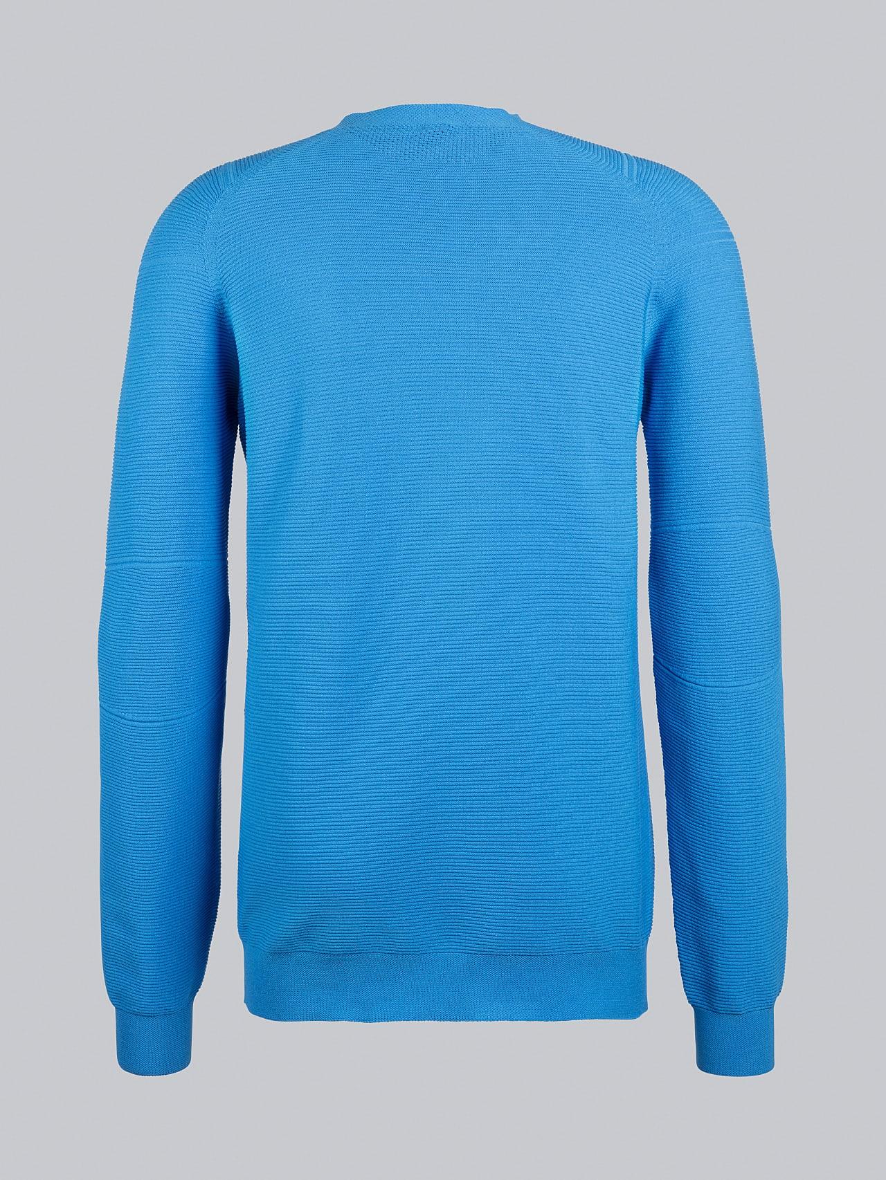 FOSOP V3.Y5.02 Seamless 3D Knit Crewneck Jumper blue Left Alpha Tauri