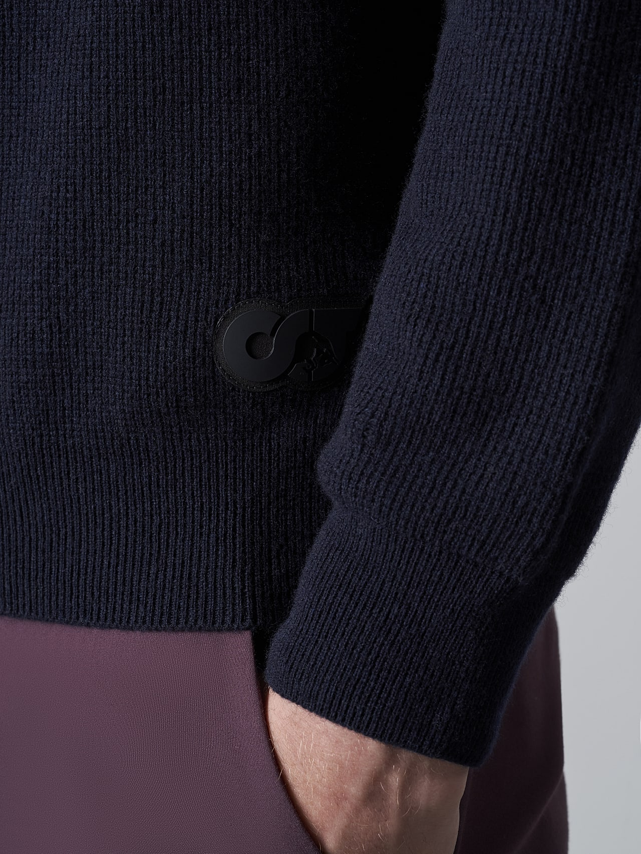 FORCE V1.Y5.02 Cashmere-Blend Knit Polo Longsleeve navy Extra Alpha Tauri