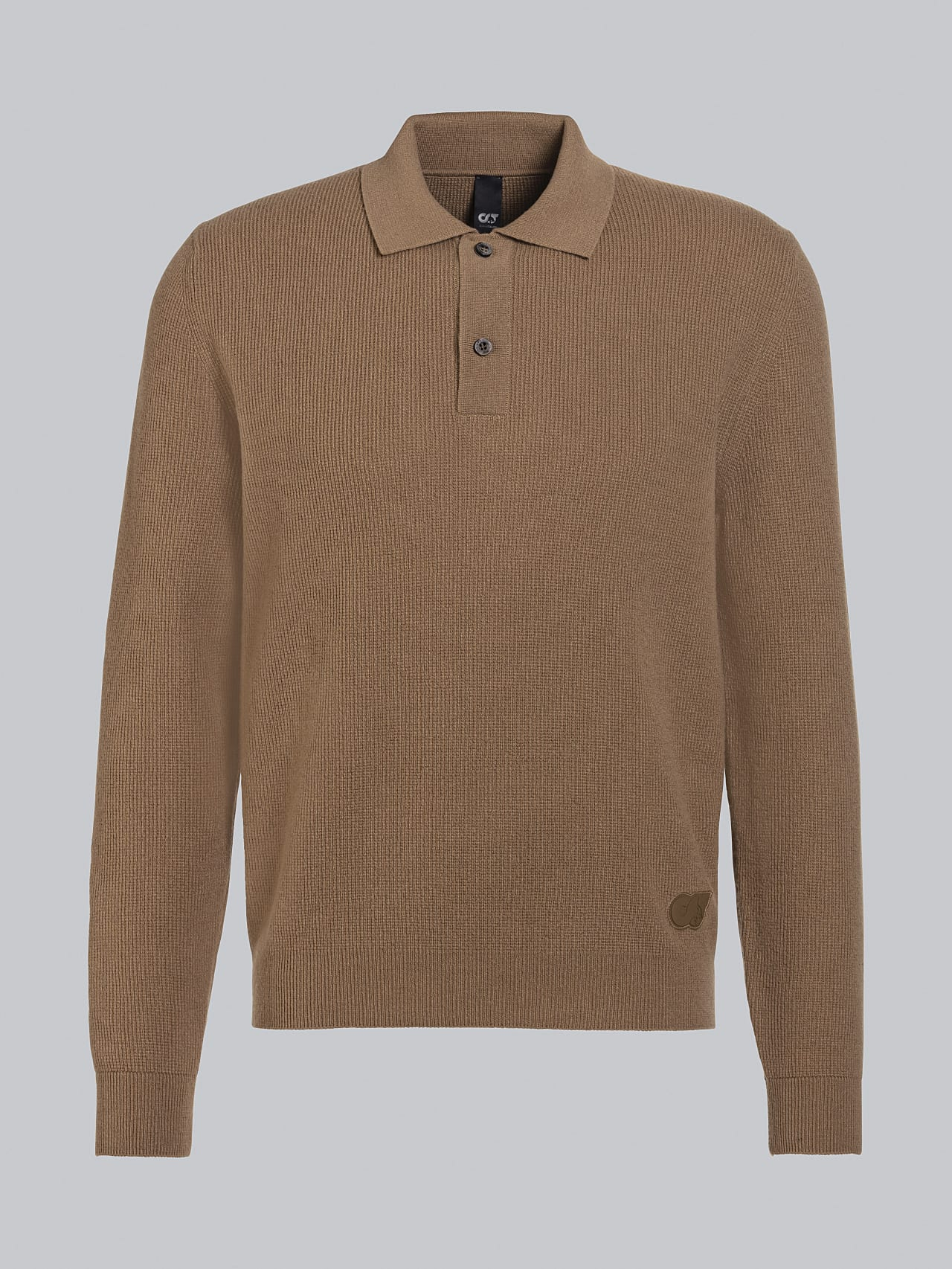 FORCE V1.Y5.02 Cashmere-Blend Knit Polo Longsleeve gold Back Alpha Tauri