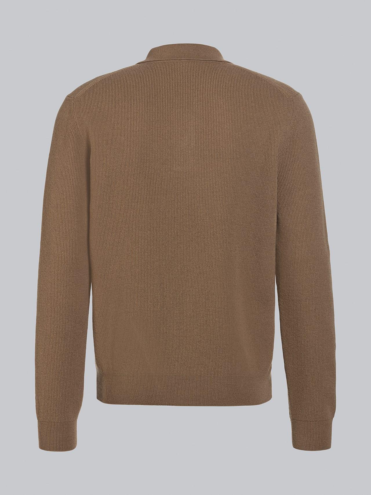 FORCE V1.Y5.02 Cashmere-Blend Knit Polo Longsleeve gold Left Alpha Tauri