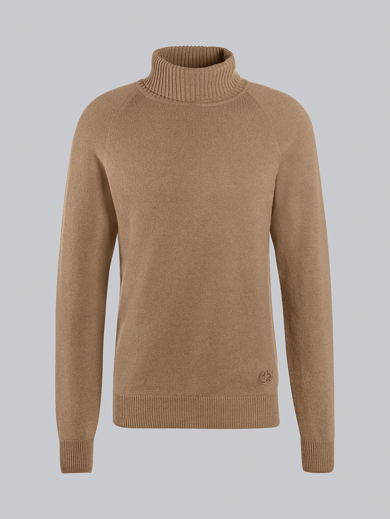 FLUCK V2.Y5.02 Seamless 3D Knit Cashmere-Blend Turtle Neck gold Back Alpha Tauri