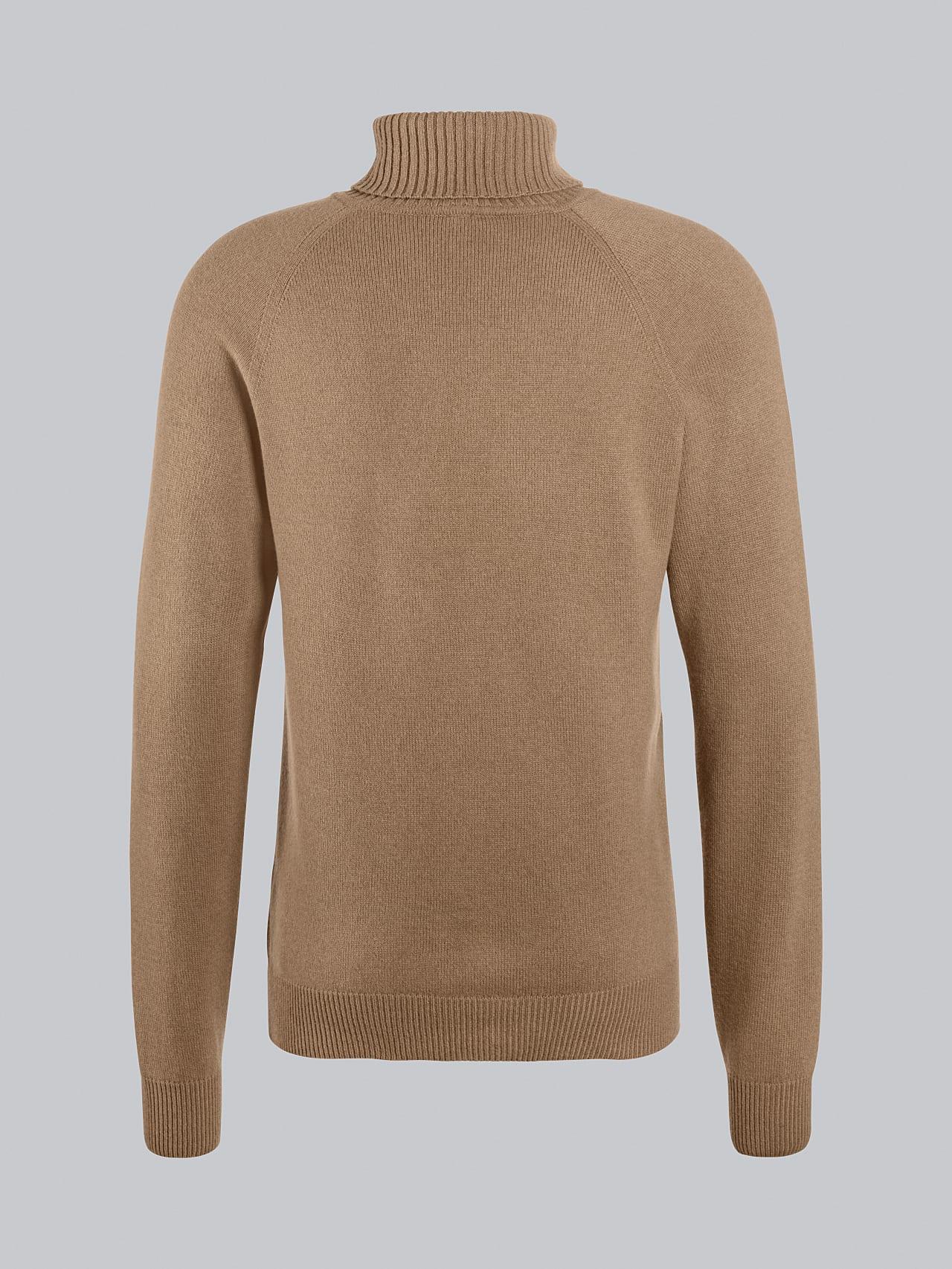 FLUCK V2.Y5.02 Seamless 3D Knit Cashmere-Blend Turtle Neck gold Left Alpha Tauri