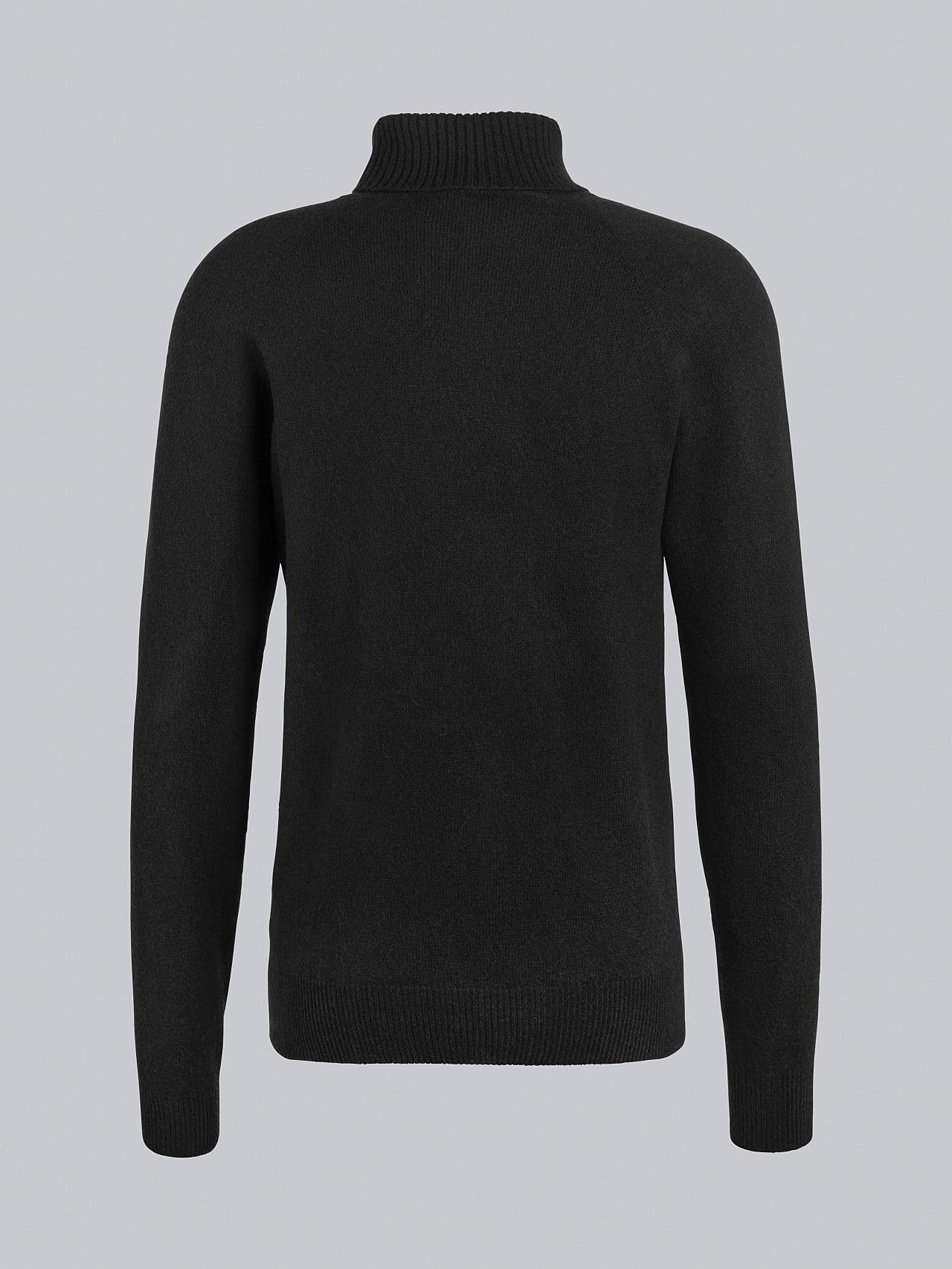 FLUCK V2.Y5.02 Seamless 3D Knit Cashmere-Blend Turtle Neck black Left Alpha Tauri