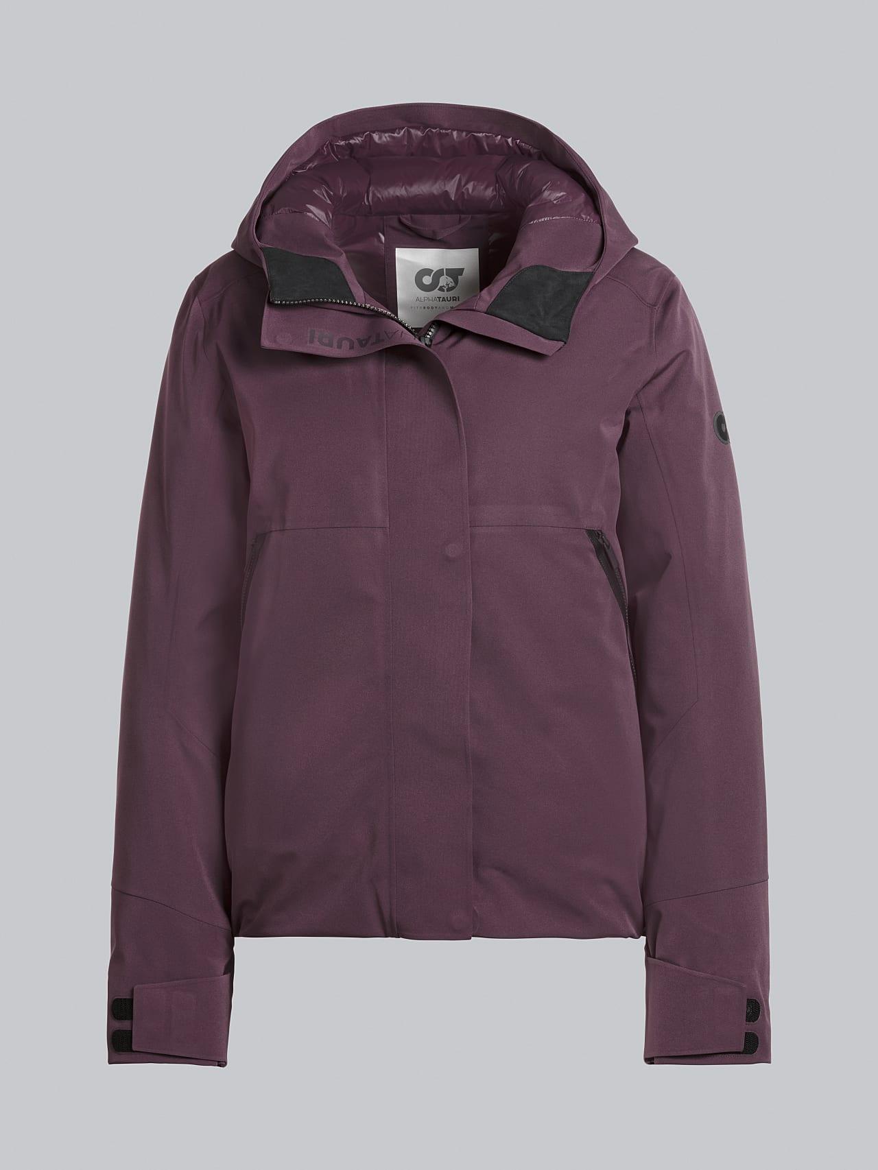 ONUVO V1.Y5.02 Packable Waterproof Jacket Burgundy Back Alpha Tauri