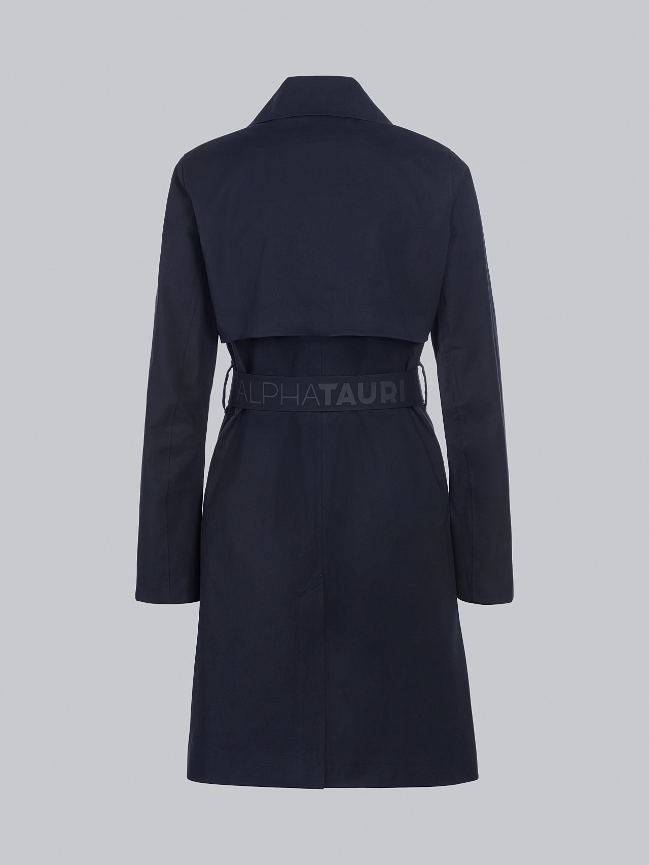 OMANI V1.Y5.02 Packable and Waterproof Trench Coat navy Left Alpha Tauri