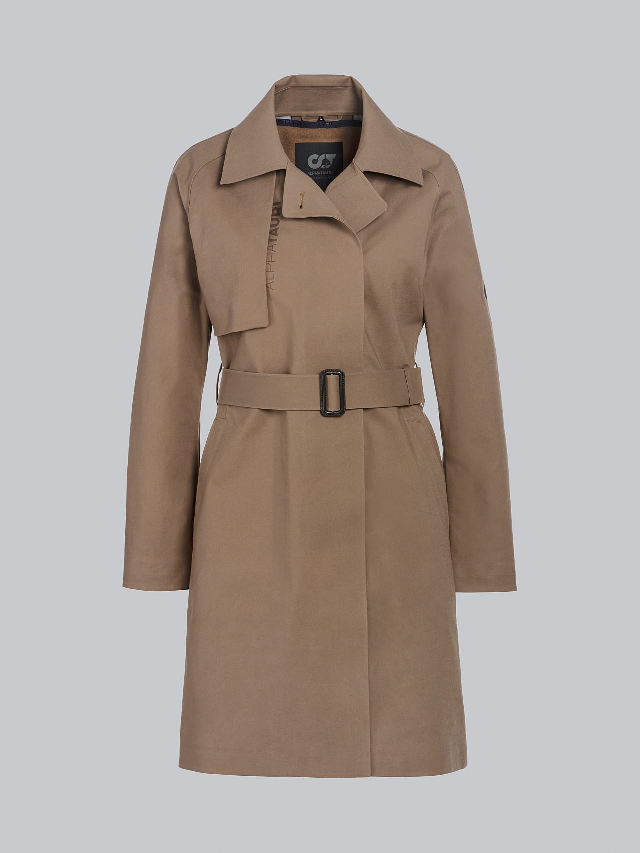 OMANI V1.Y5.02 Packable and Waterproof Trench Coat gold Back Alpha Tauri