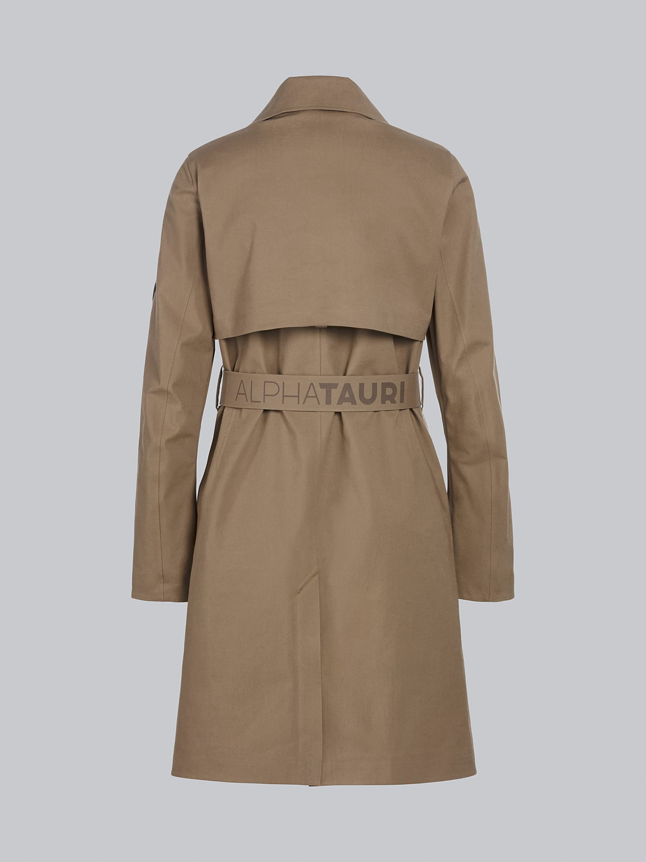 OMANI V1.Y5.02 Packable and Waterproof Trench Coat gold Left Alpha Tauri