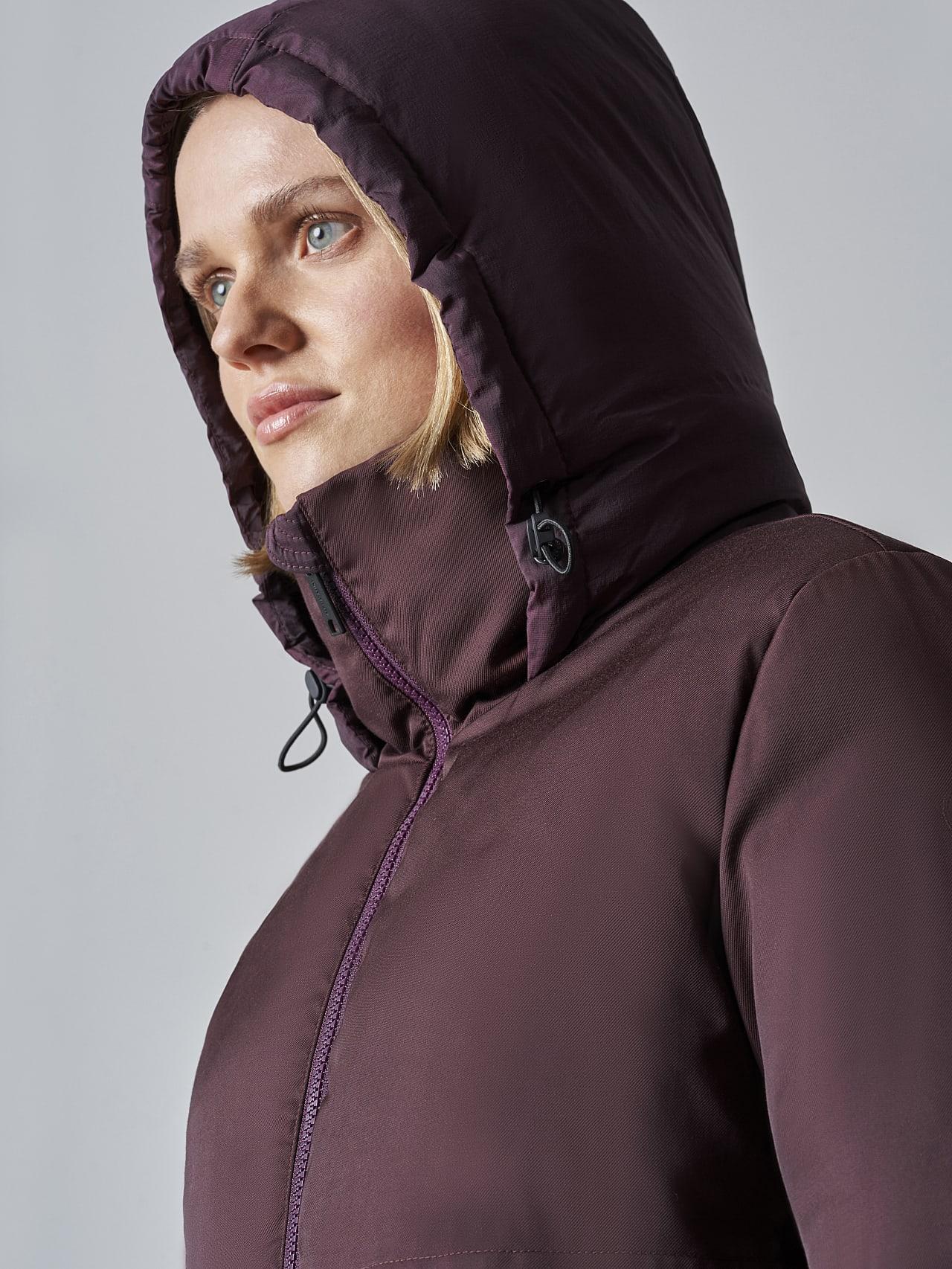 OMONA V1.Y5.02 PrimaLoft® Maxi Puffer Coat Burgundy Extra Alpha Tauri
