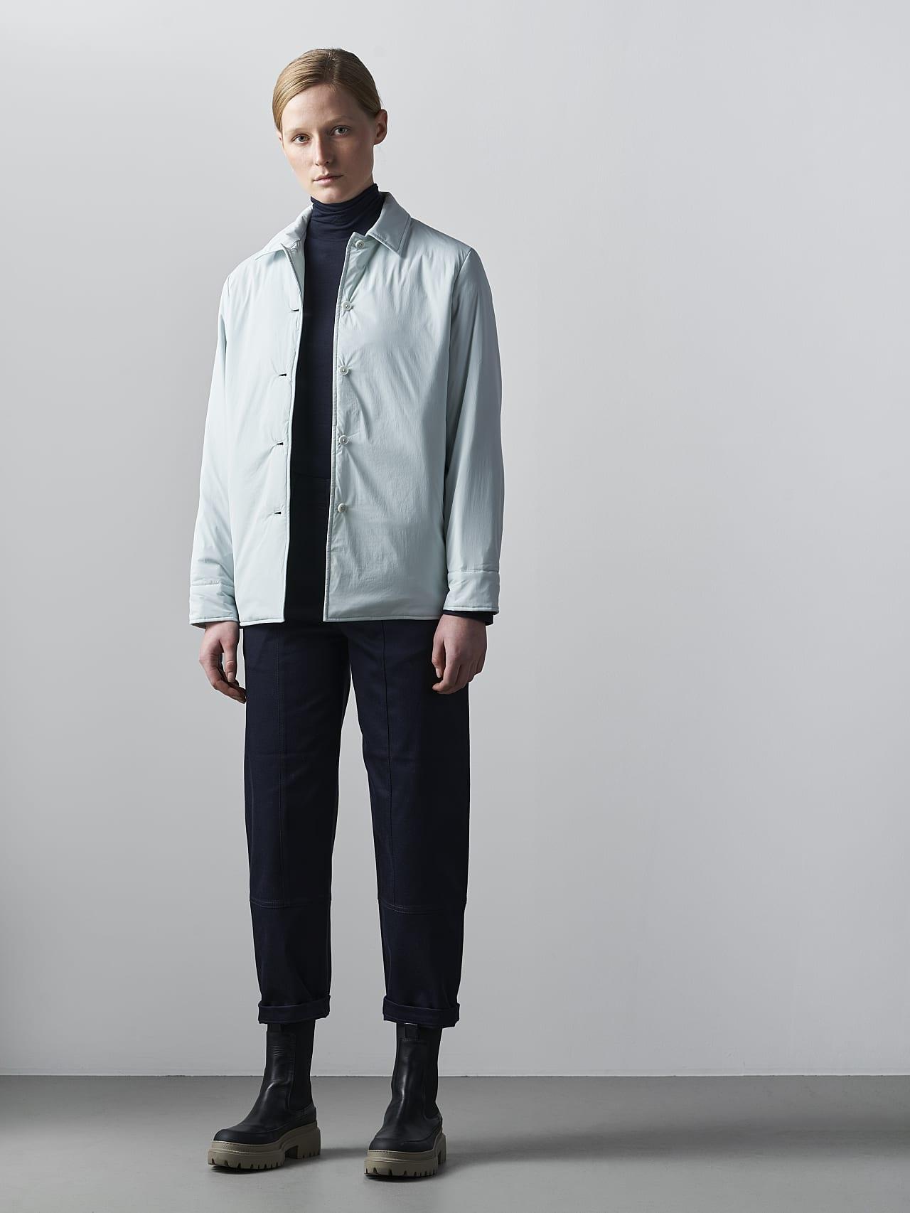 OSHEN V1.Y5.02 PrimaLoft® Overshirt Jacket Pale Blue  Front Alpha Tauri