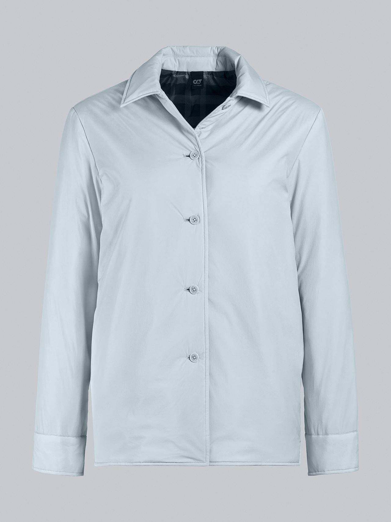 OSHEN V1.Y5.02 PrimaLoft® Overshirt Jacket Pale Blue  Back Alpha Tauri