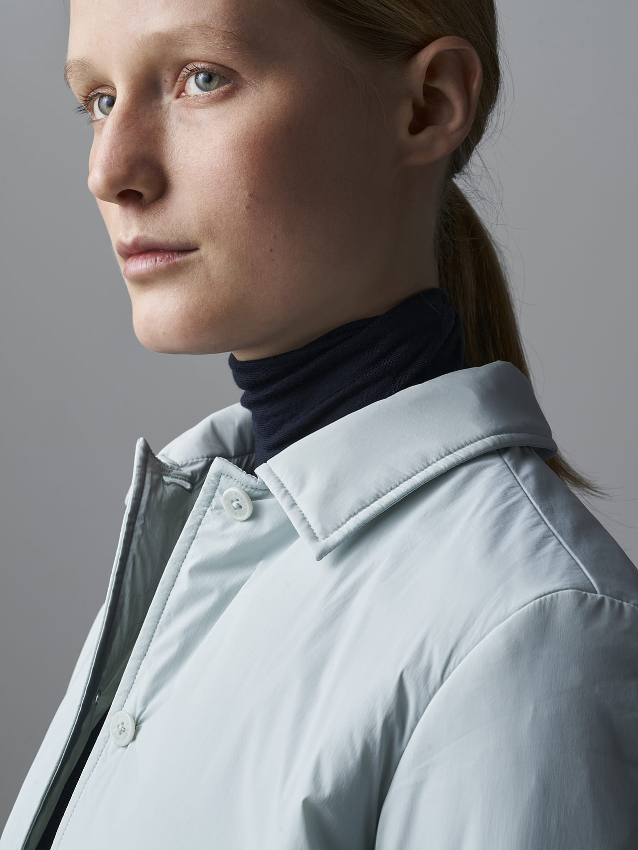 OSHEN V1.Y5.02 PrimaLoft® Overshirt Jacket Pale Blue  Right Alpha Tauri
