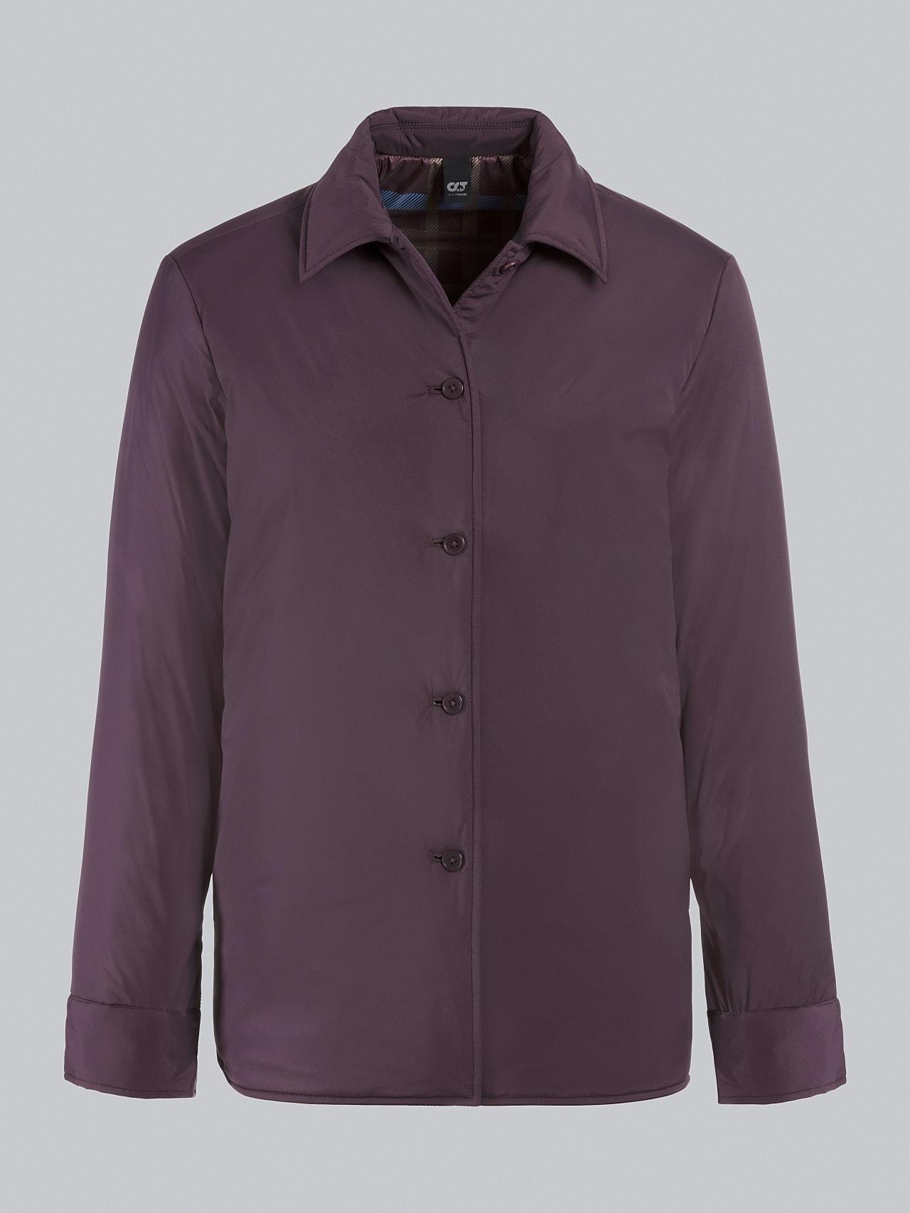 OSHEN V1.Y5.02 PrimaLoft® Overshirt Jacket Burgundy Back Alpha Tauri