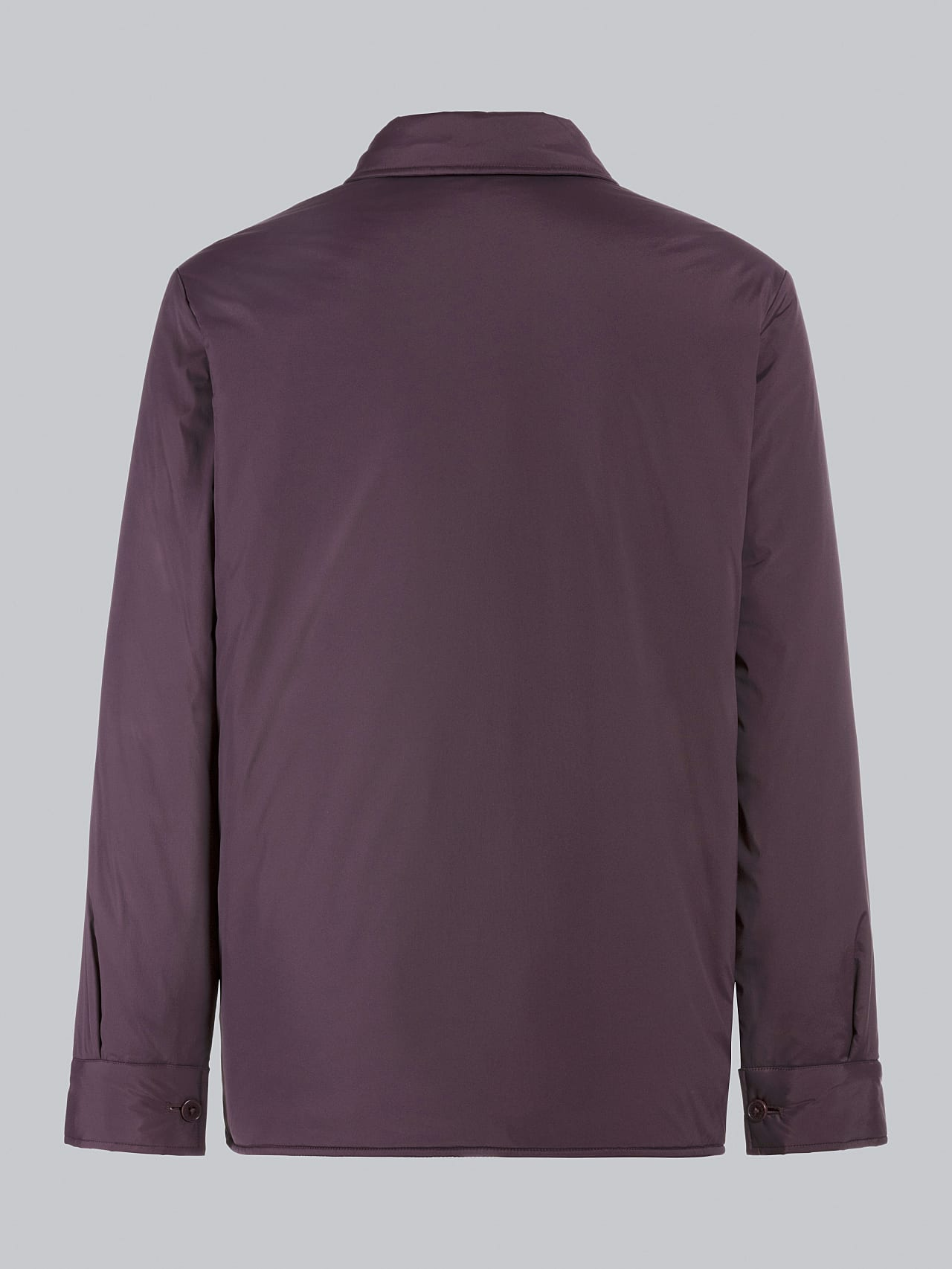 OSHEN V1.Y5.02 PrimaLoft® Overshirt Jacket Burgundy Left Alpha Tauri