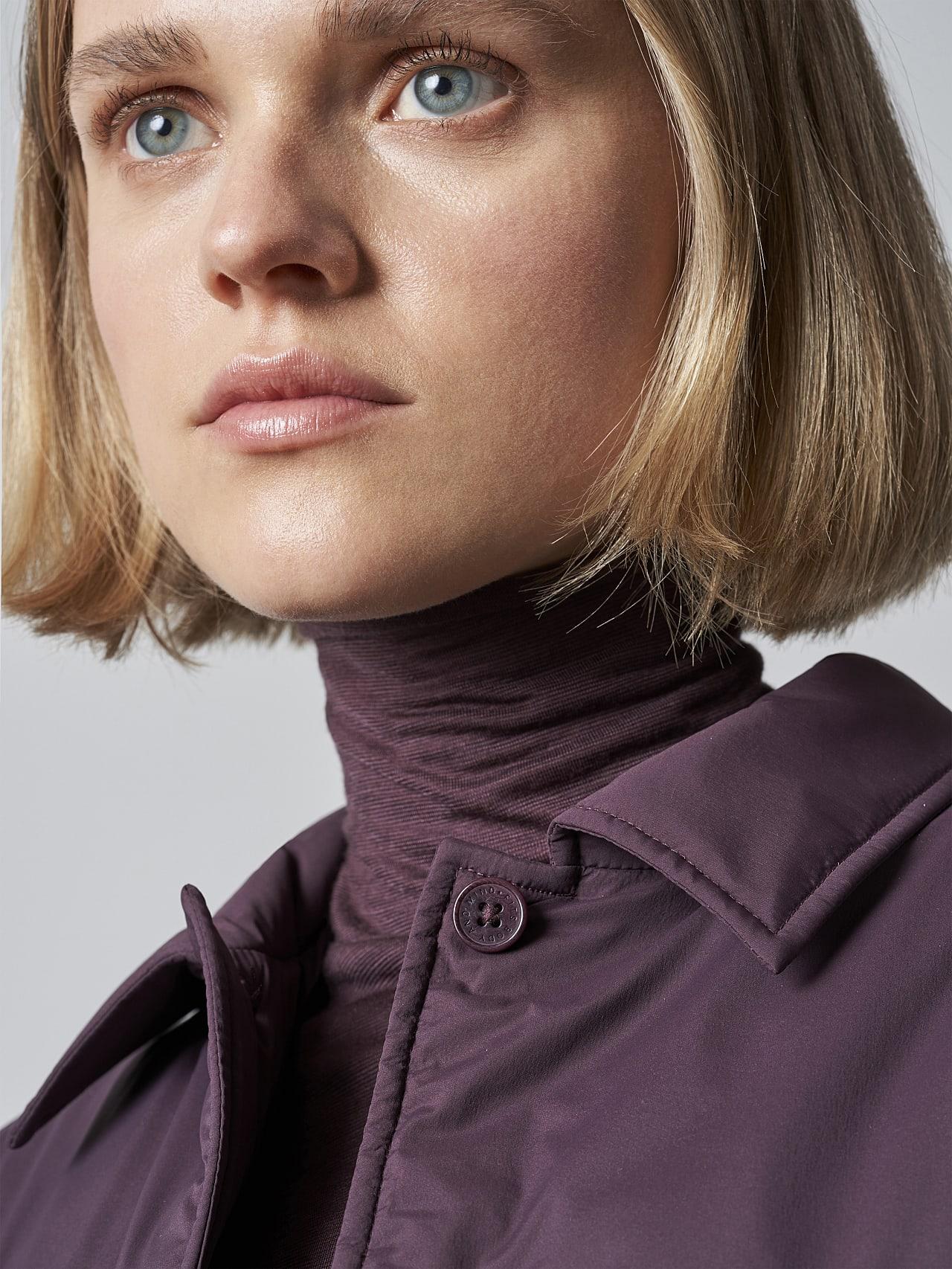 OSHEN V1.Y5.02 PrimaLoft® Overshirt Jacket Burgundy Right Alpha Tauri