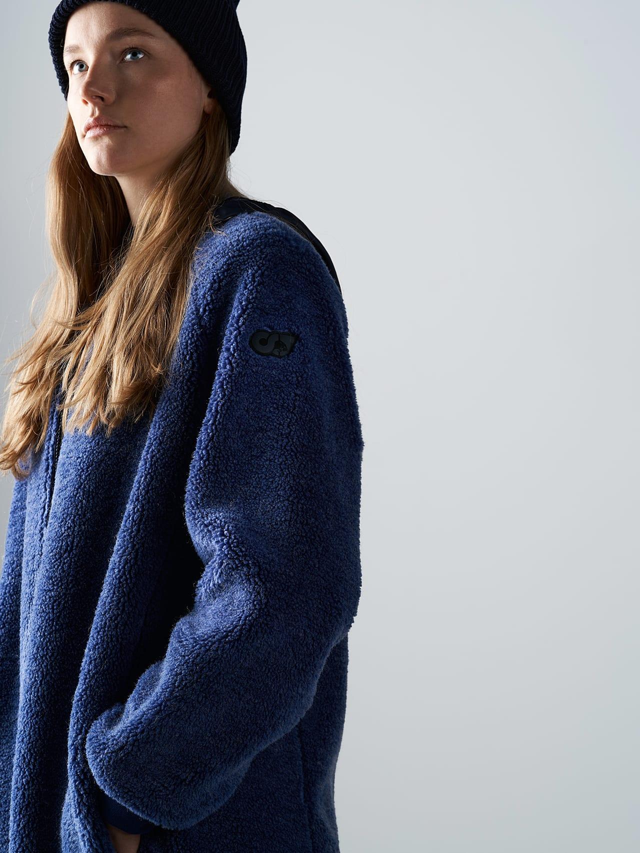 OMANE V1.Y5.02 Reversible Pile Wool Maxi Coat light blue Front Alpha Tauri