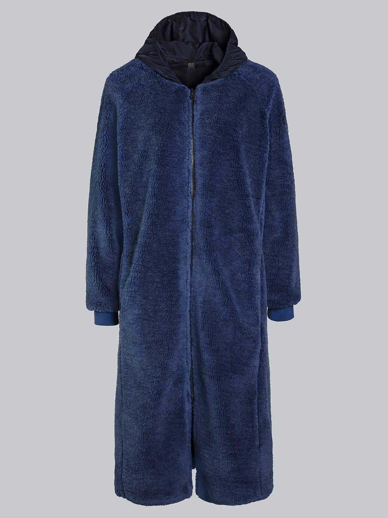 OMANE V1.Y5.02 Reversible Pile Wool Maxi Coat light blue Back Alpha Tauri