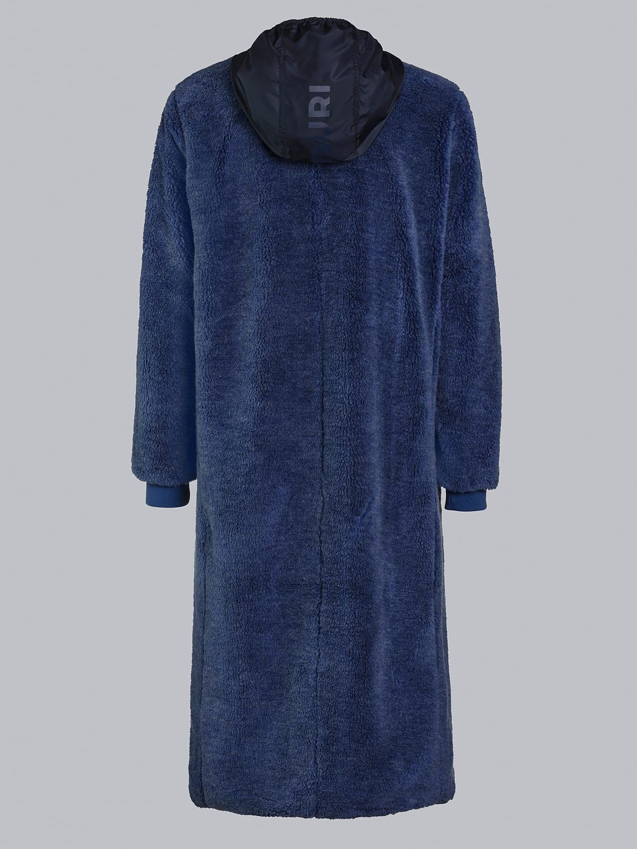 OMANE V1.Y5.02 Reversible Pile Wool Maxi Coat light blue Left Alpha Tauri
