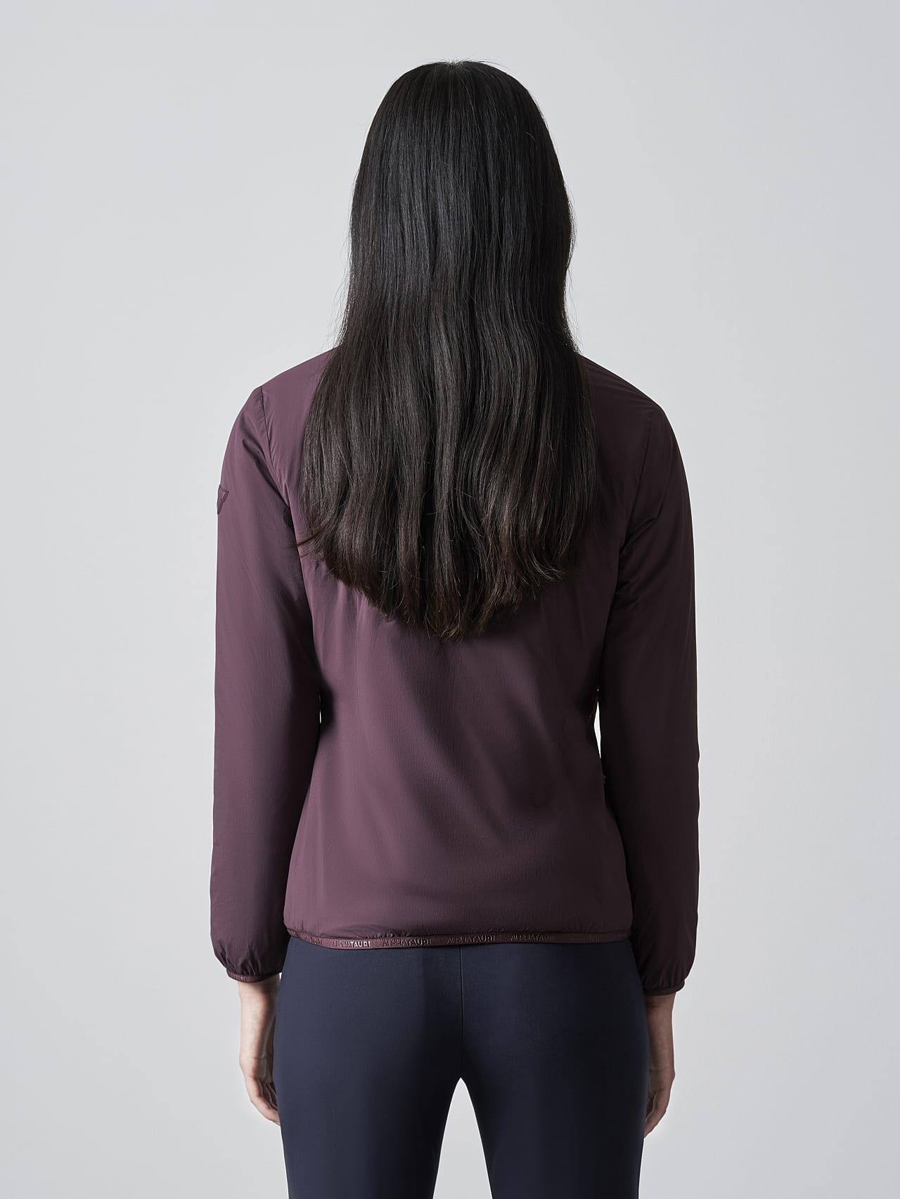 OVAS V4.Y5.02 Padded PrimaLoft® Jacket Burgundy Front Main Alpha Tauri