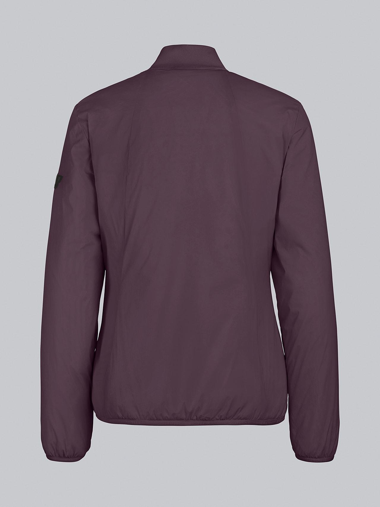 OVAS V4.Y5.02 Padded PrimaLoft® Jacket Burgundy Left Alpha Tauri