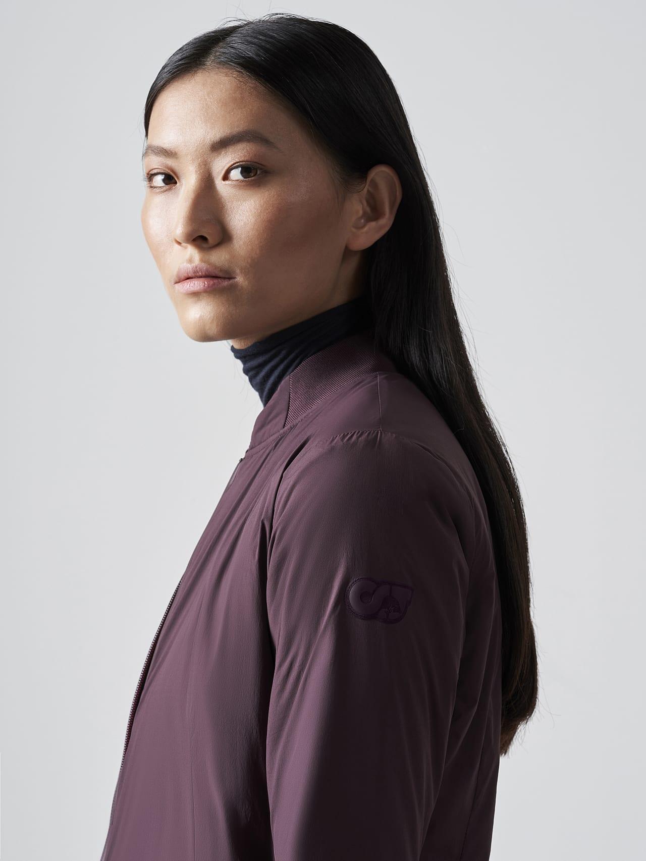 OVAS V4.Y5.02 Padded PrimaLoft® Jacket Burgundy Right Alpha Tauri