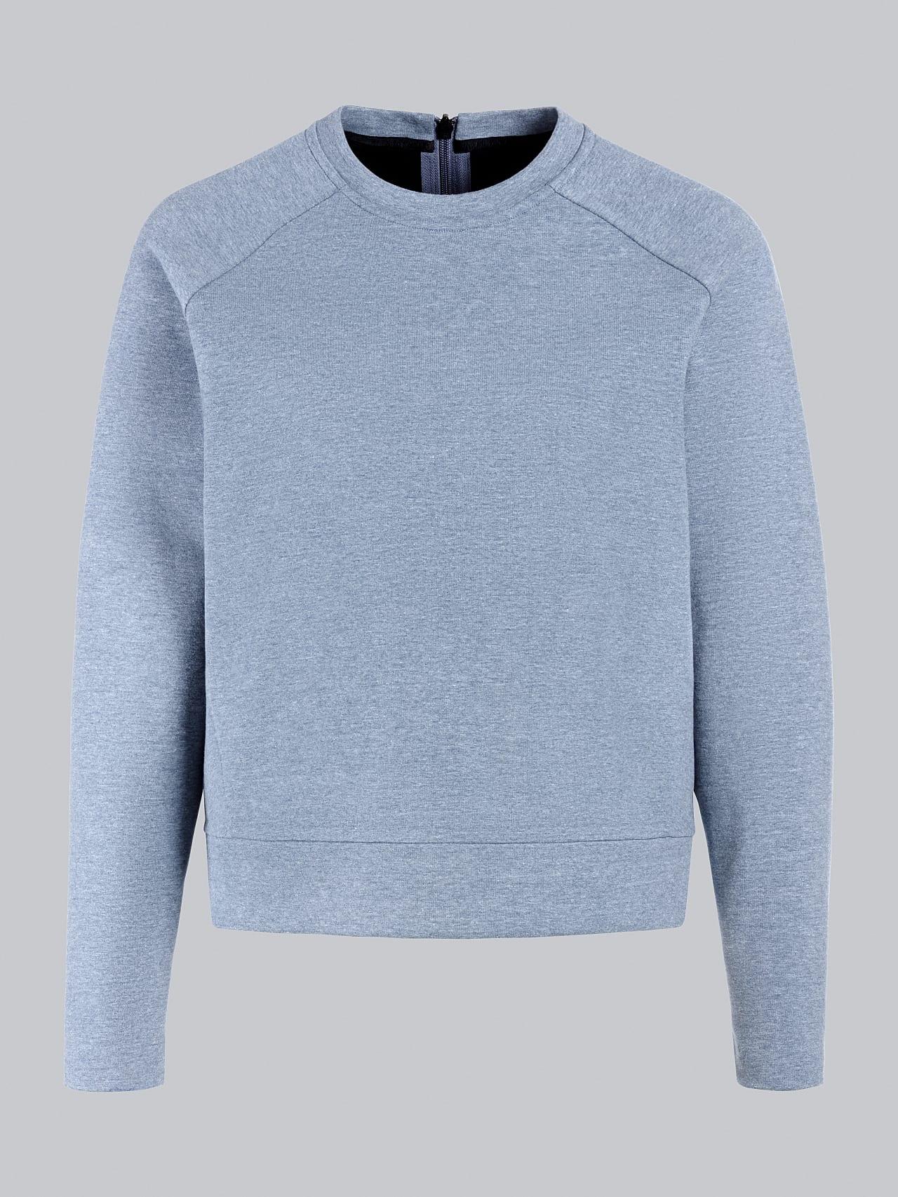 SRONI V2.Y5.02 Waterproof Sweatshirt medium blue Back Alpha Tauri