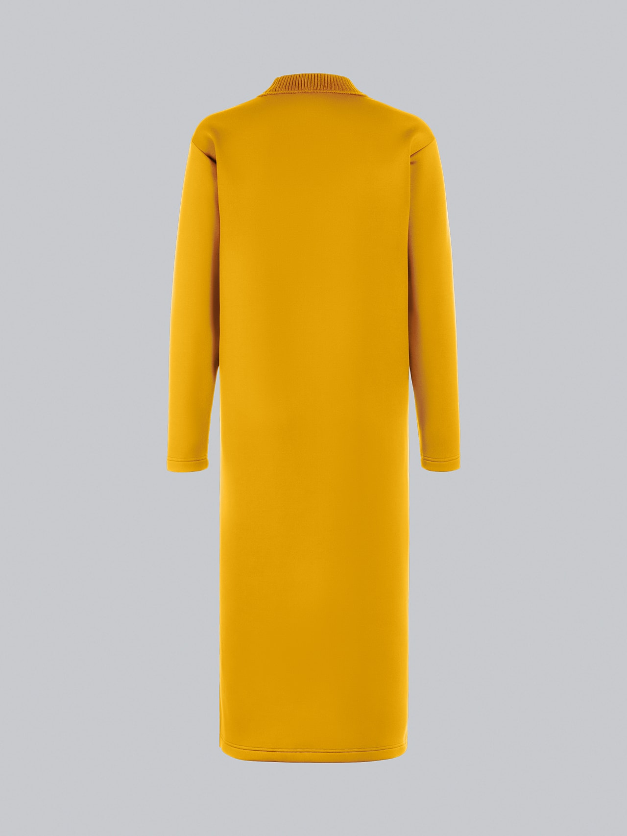 SINLE V1.Y5.02 Technical Spacer Maxi Dress yellow Left Alpha Tauri
