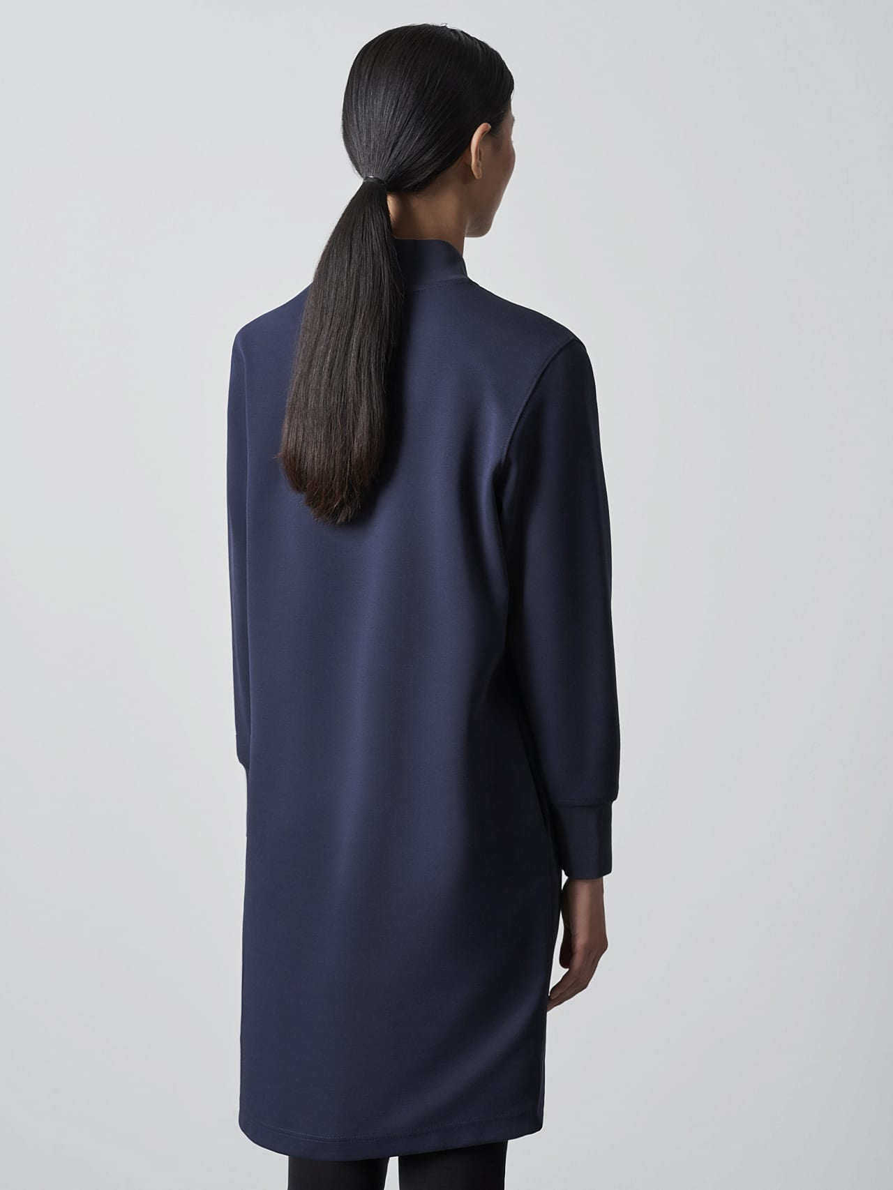 STAR V3.Y5.02 Premium Logo Sweater Dress navy Front Main Alpha Tauri