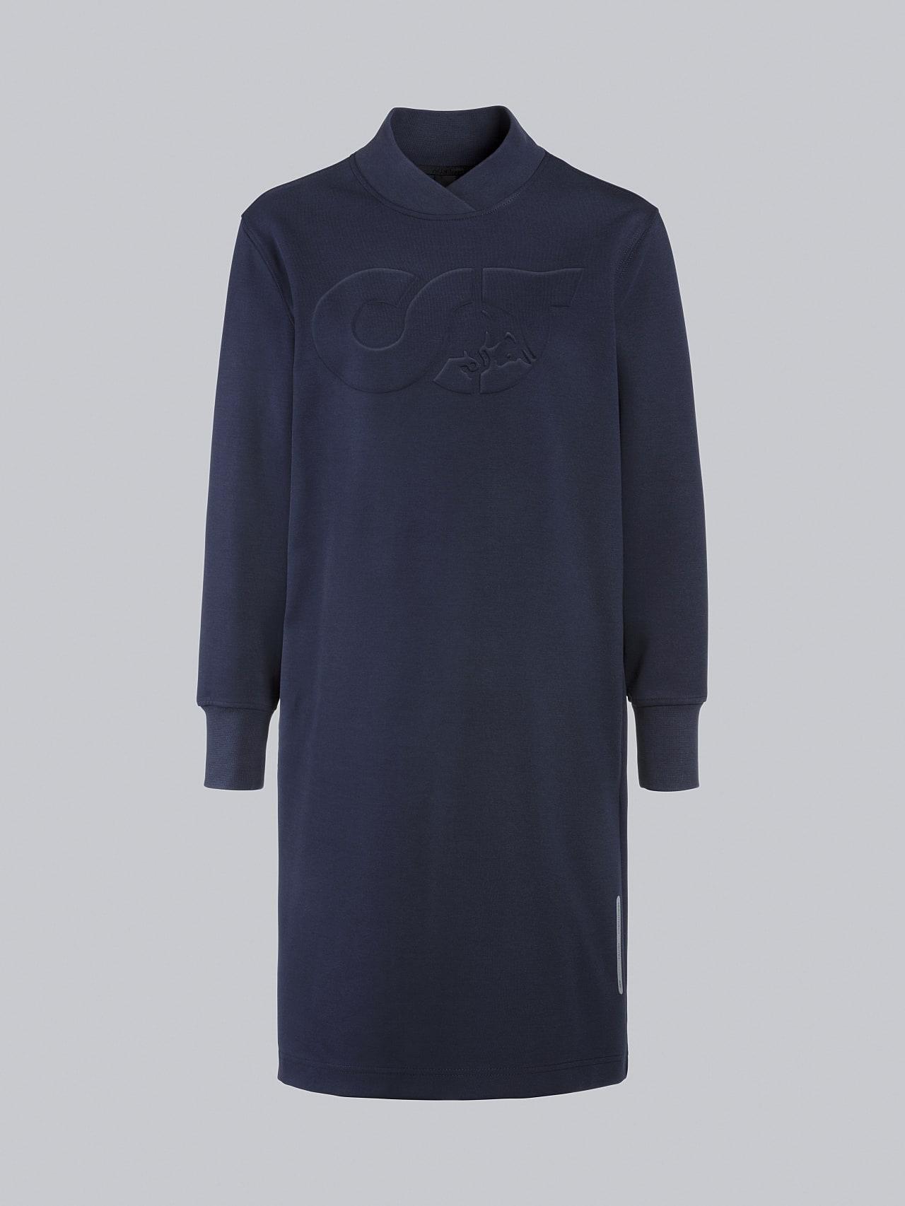 STAR V3.Y5.02 Premium Logo Sweater Dress navy Back Alpha Tauri