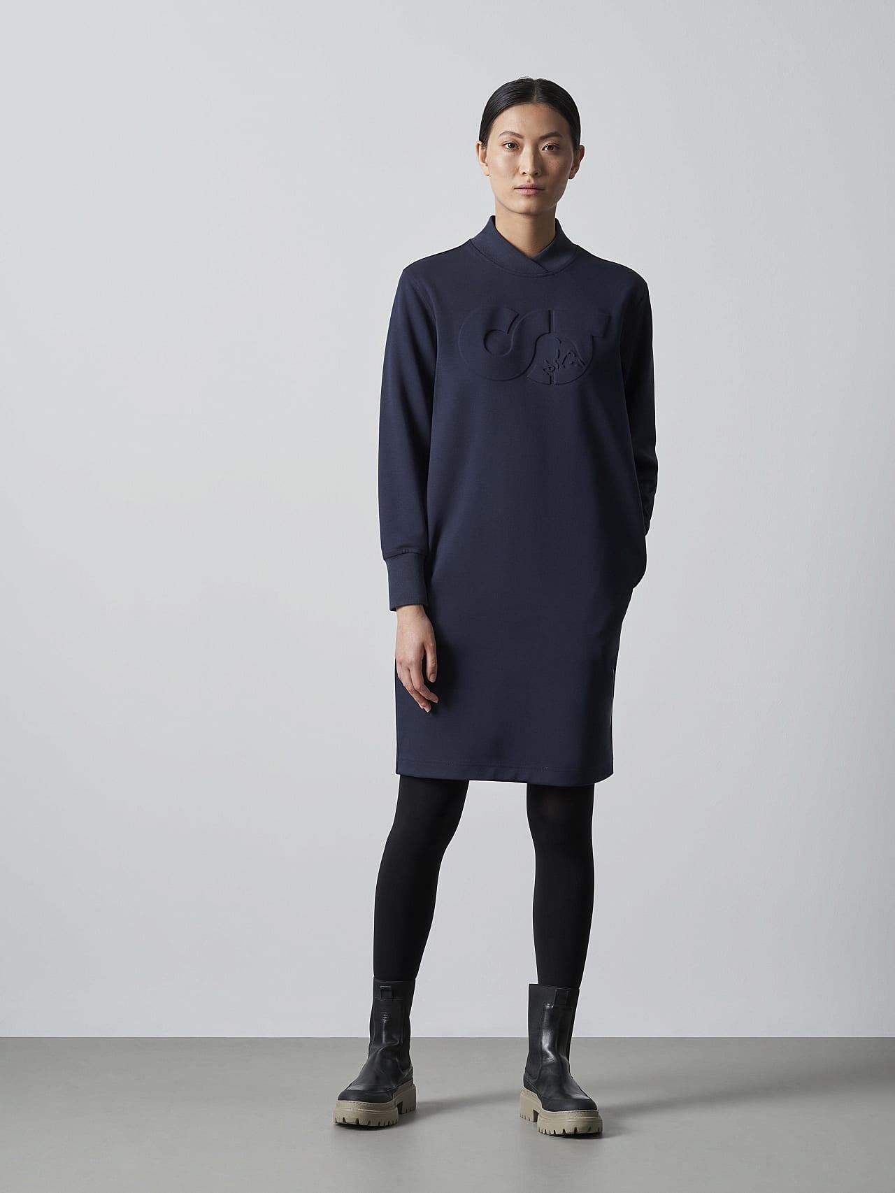 STAR V3.Y5.02 Premium Logo Sweater Dress navy Extra Alpha Tauri