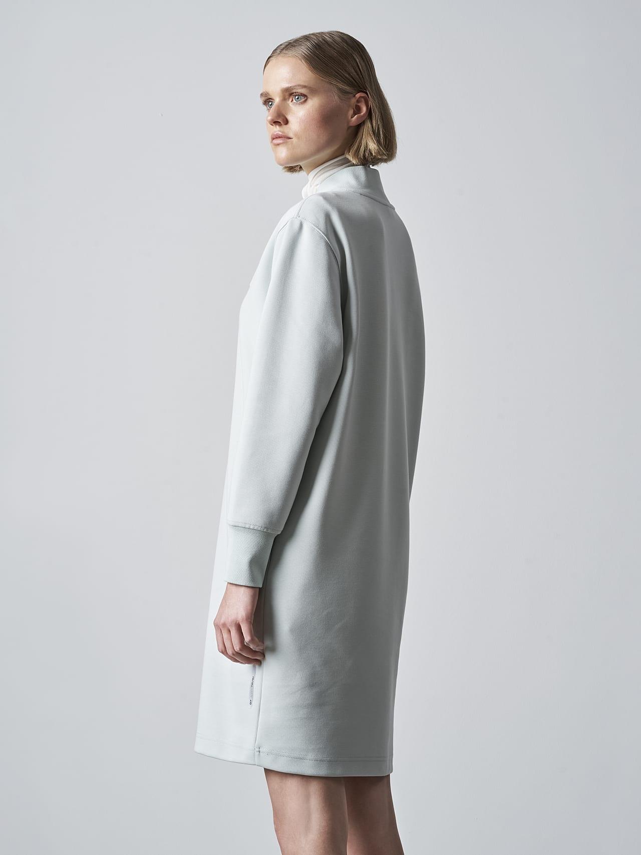 STAR V3.Y5.02 Premium Logo Sweater Dress Pale Blue  Front Main Alpha Tauri