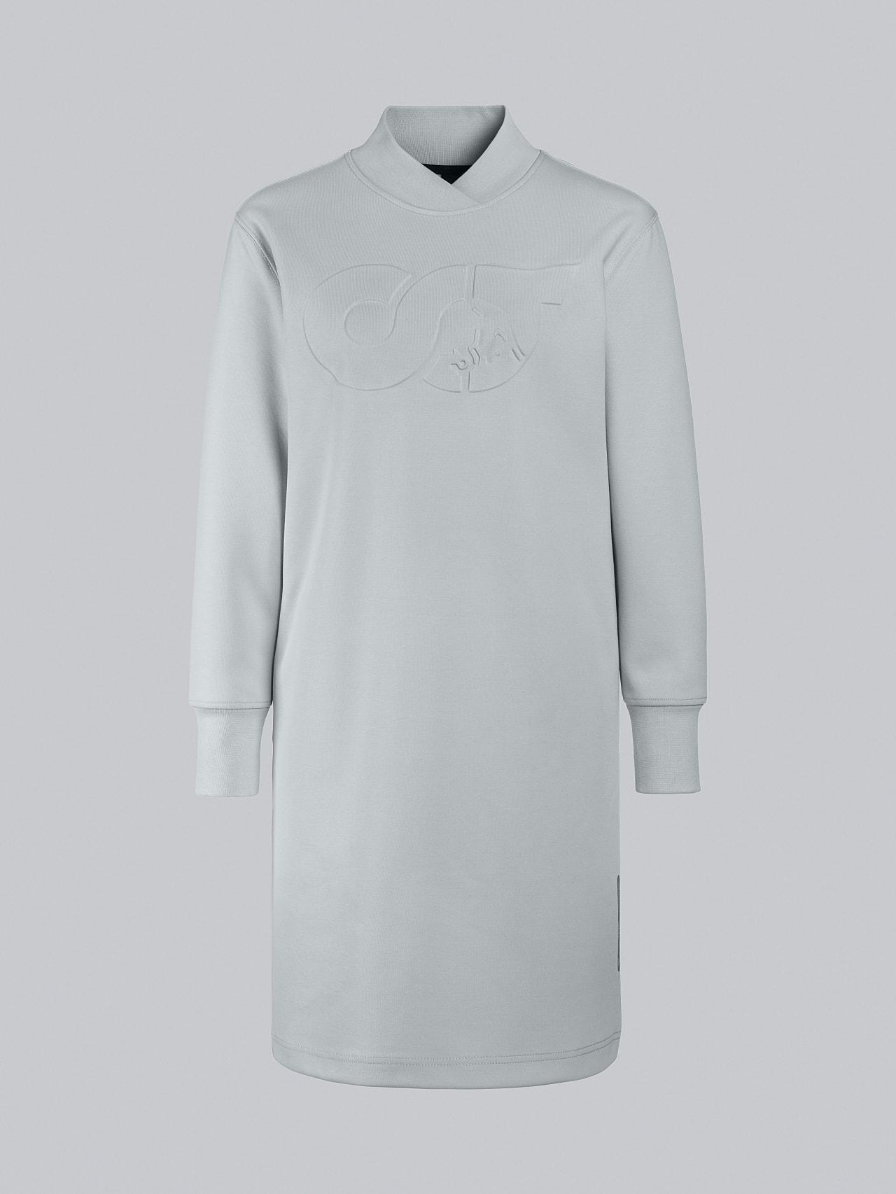 STAR V3.Y5.02 Premium Logo Sweater Dress Pale Blue  Back Alpha Tauri