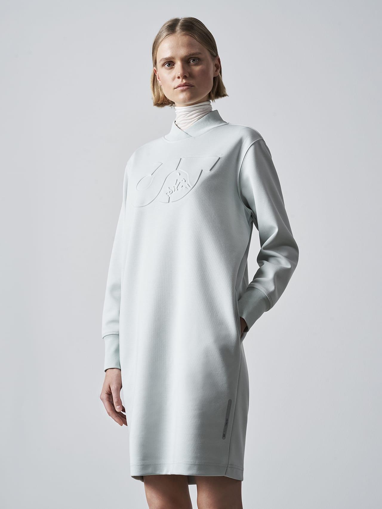 STAR V3.Y5.02 Premium Logo Sweater Dress Pale Blue  Extra Alpha Tauri