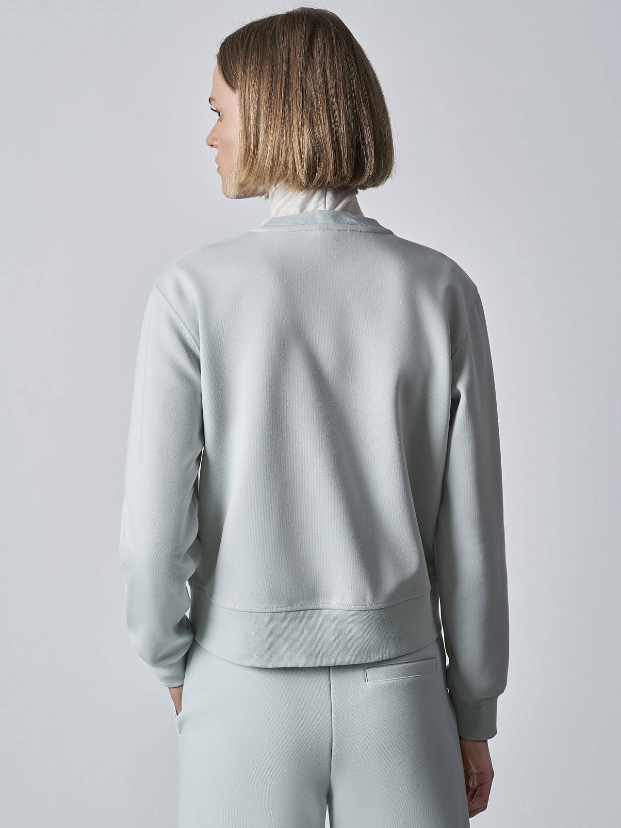 SHINT V1.Y5.02 Premium Logo Sweater Pale Blue  Front Main Alpha Tauri