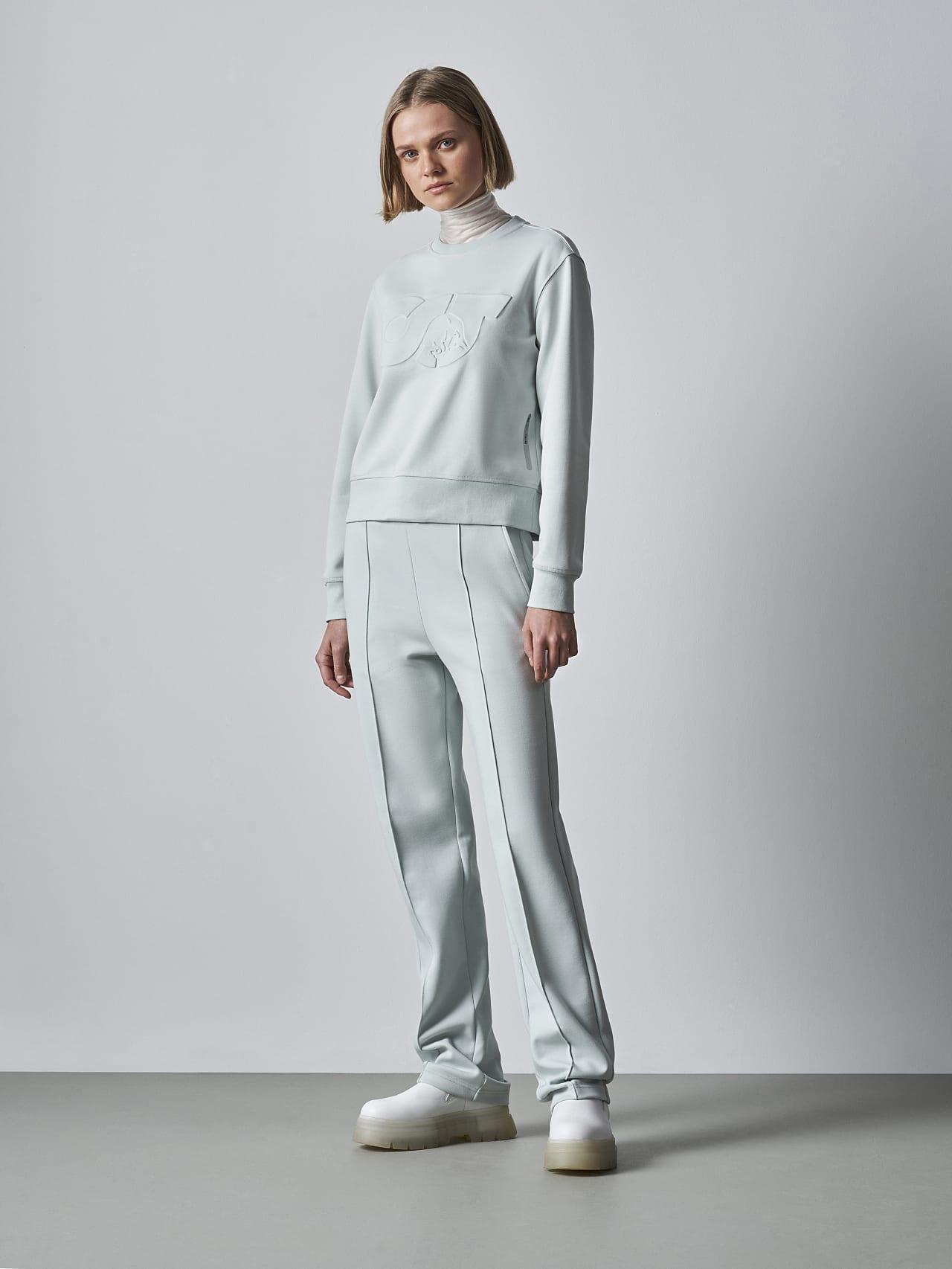 SHINT V1.Y5.02 Premium Logo Sweater Pale Blue  Front Alpha Tauri