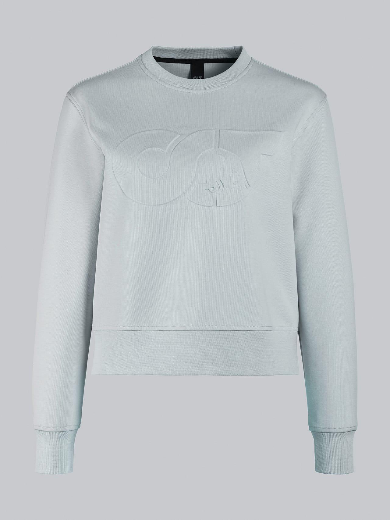 SHINT V1.Y5.02 Premium Logo Sweater Pale Blue  Back Alpha Tauri