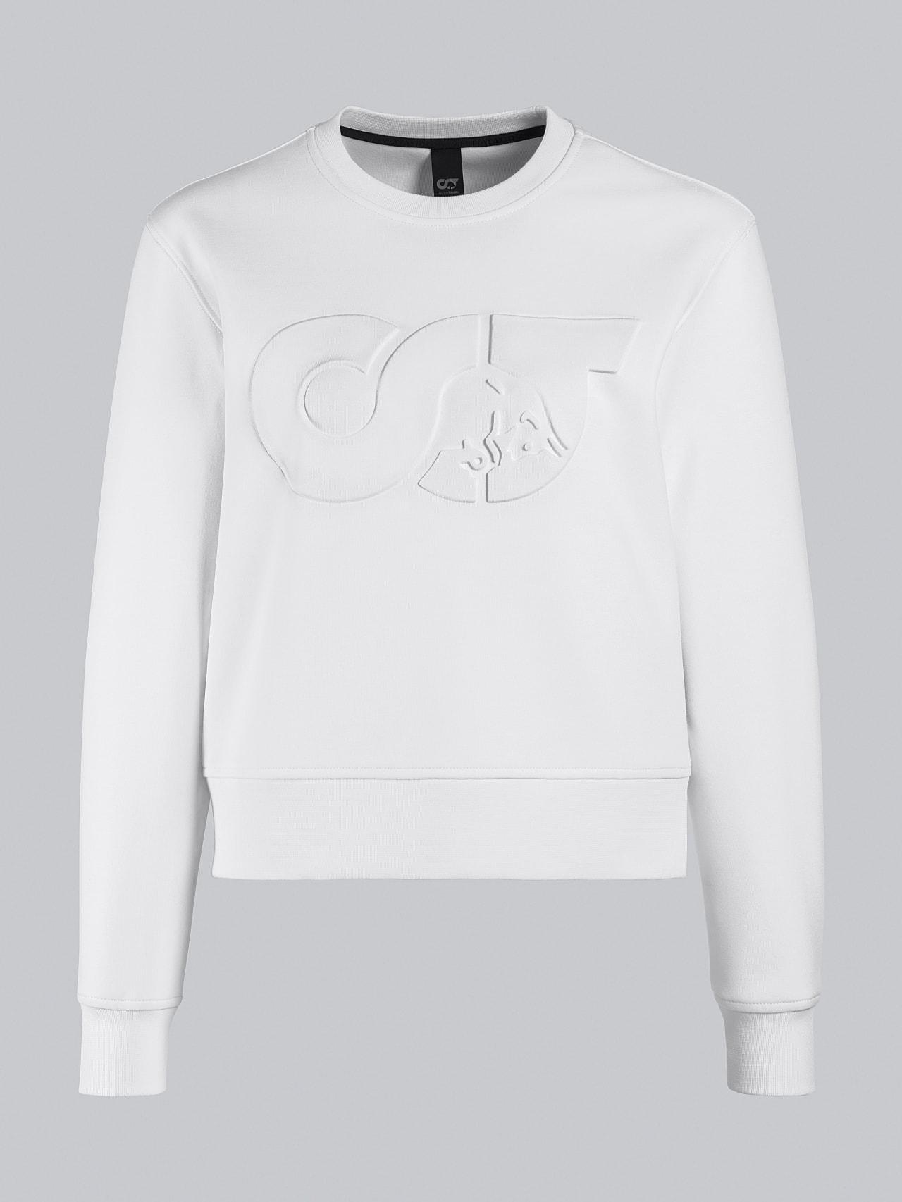 SHINT V1.Y5.02 Premium Logo Sweater offwhite Back Alpha Tauri