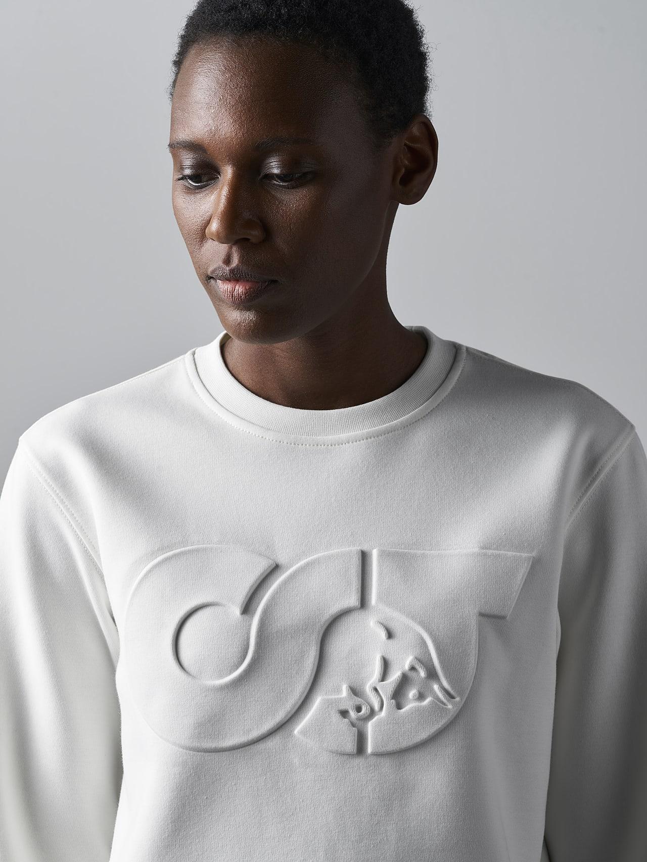 SHINT V1.Y5.02 Premium Logo Sweater offwhite Right Alpha Tauri