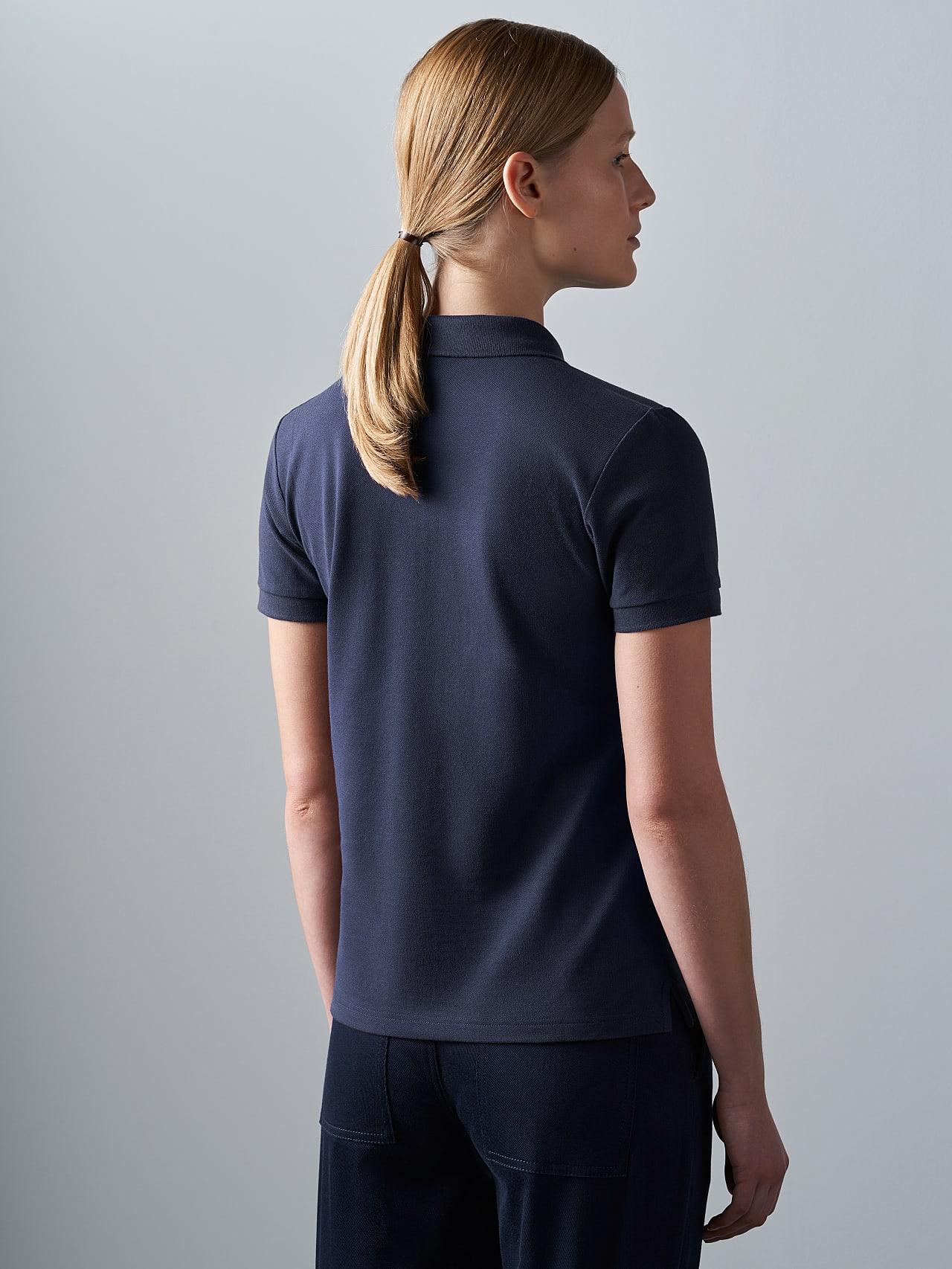 JANEY V1.Y5.02 Piqué-Poloshirt Navy Rechts Alpha Tauri
