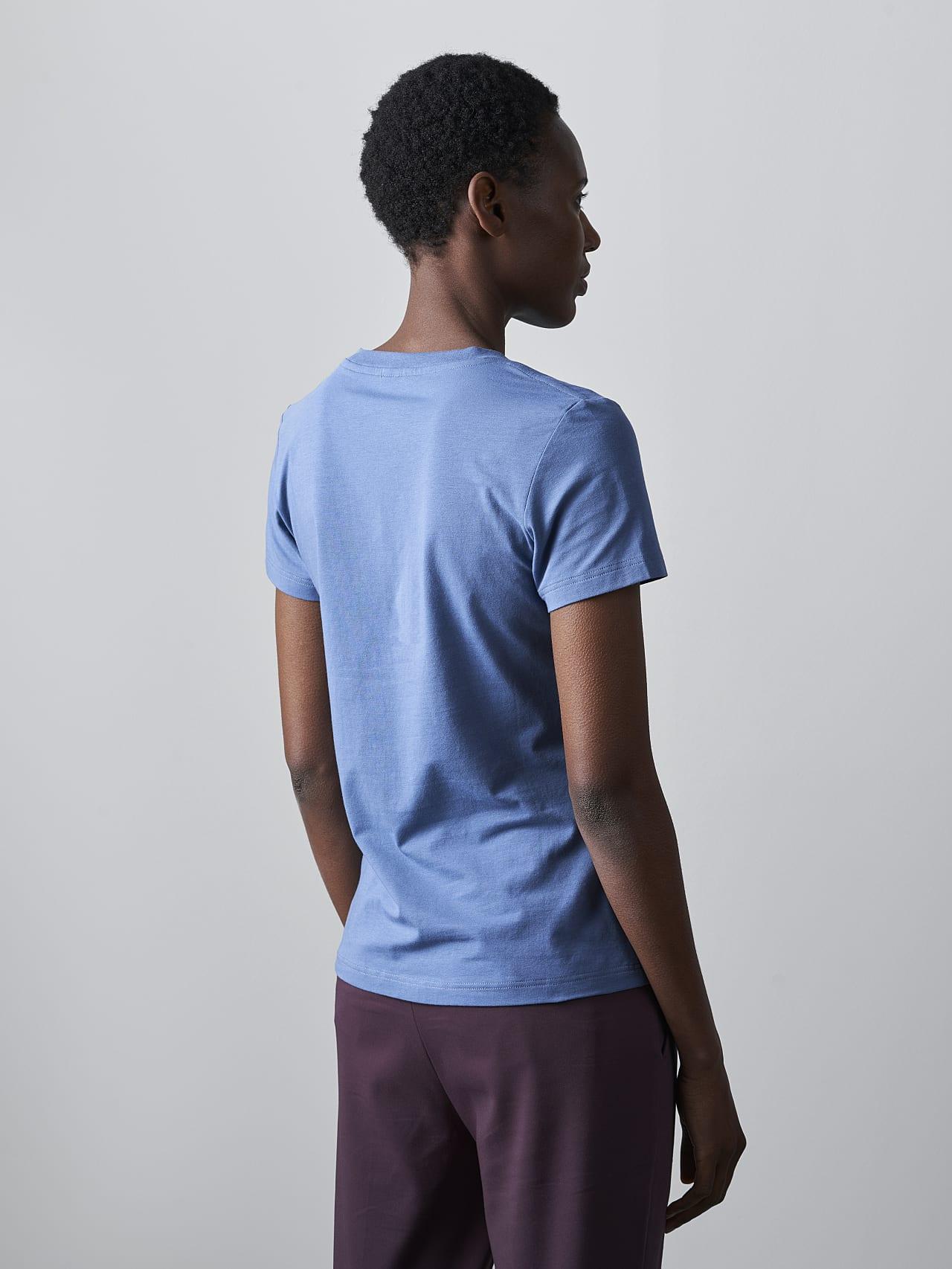 JANPA V1.Y5.02 Logo Print T-Shirt light blue Front Main Alpha Tauri