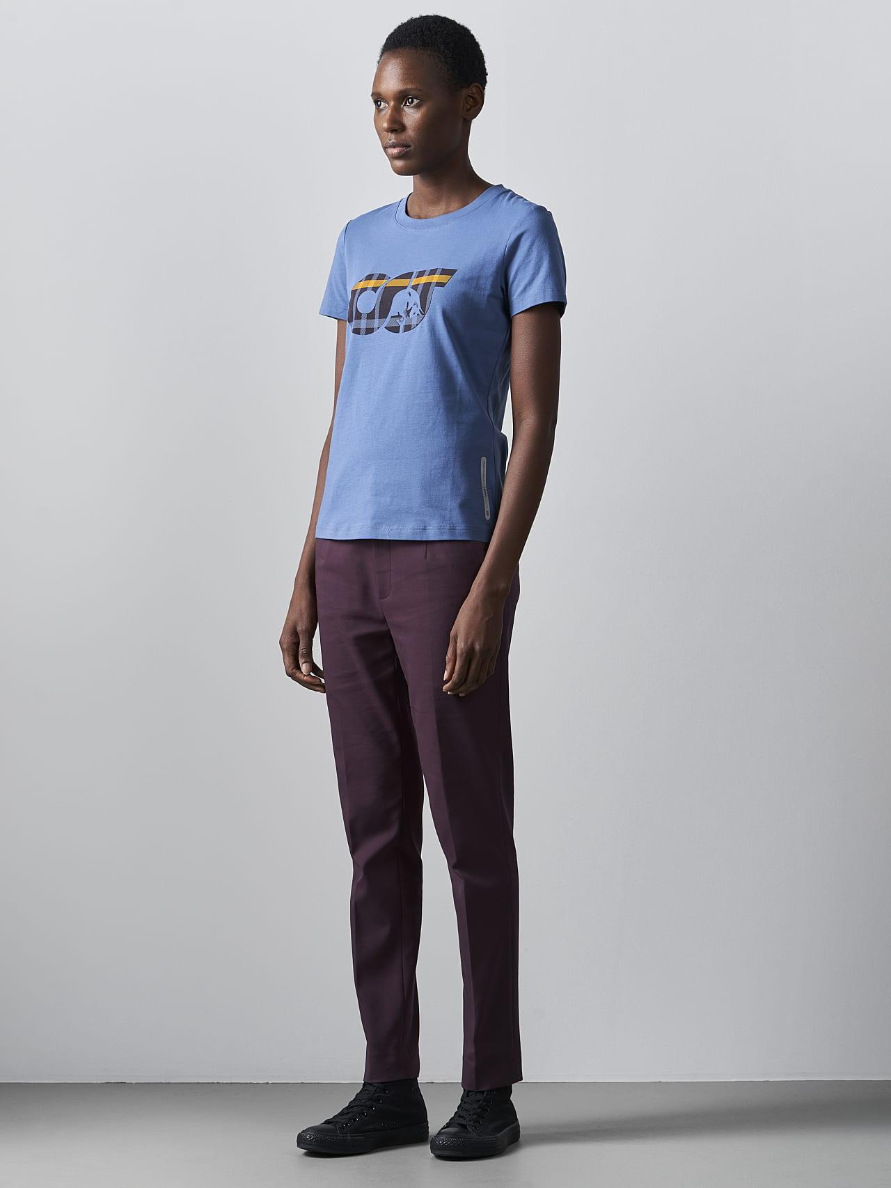 JANPA V1.Y5.02 Logo Print T-Shirt light blue Front Alpha Tauri