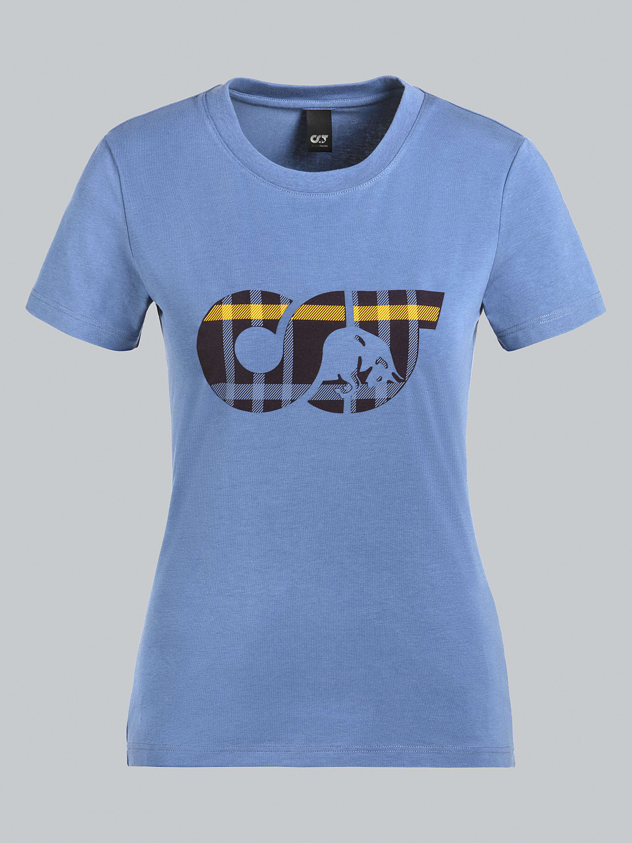 JANPA V1.Y5.02 Logo Print T-Shirt light blue Back Alpha Tauri