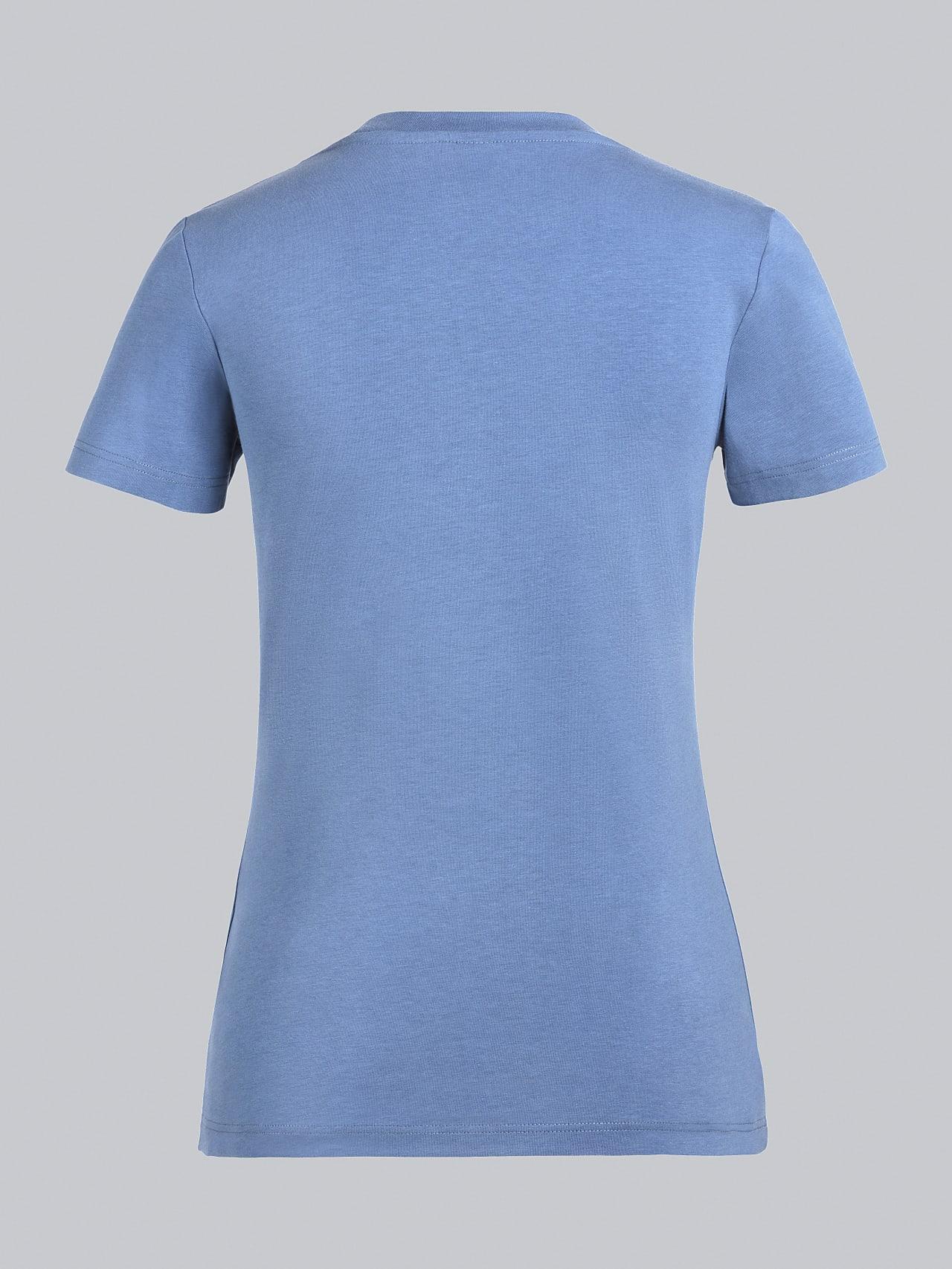 JANPA V1.Y5.02 Logo Print T-Shirt light blue Left Alpha Tauri