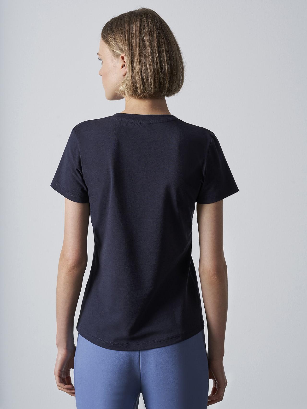 JANPA V1.Y5.02 Logo Print T-Shirt navy Front Main Alpha Tauri
