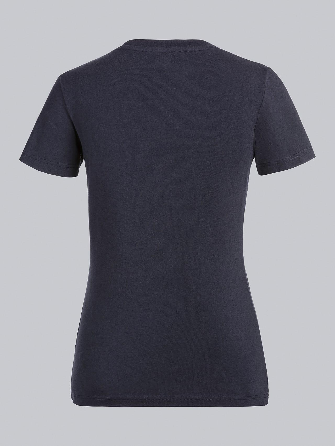 JANPA V1.Y5.02 Logo Print T-Shirt navy Left Alpha Tauri