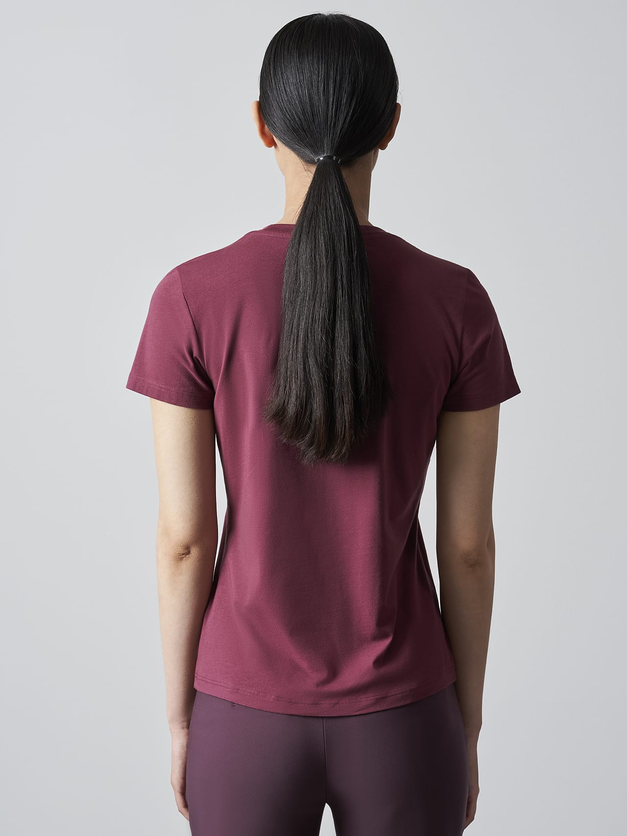JANPA V1.Y5.02 Logo Print T-Shirt bordeaux Front Main Alpha Tauri