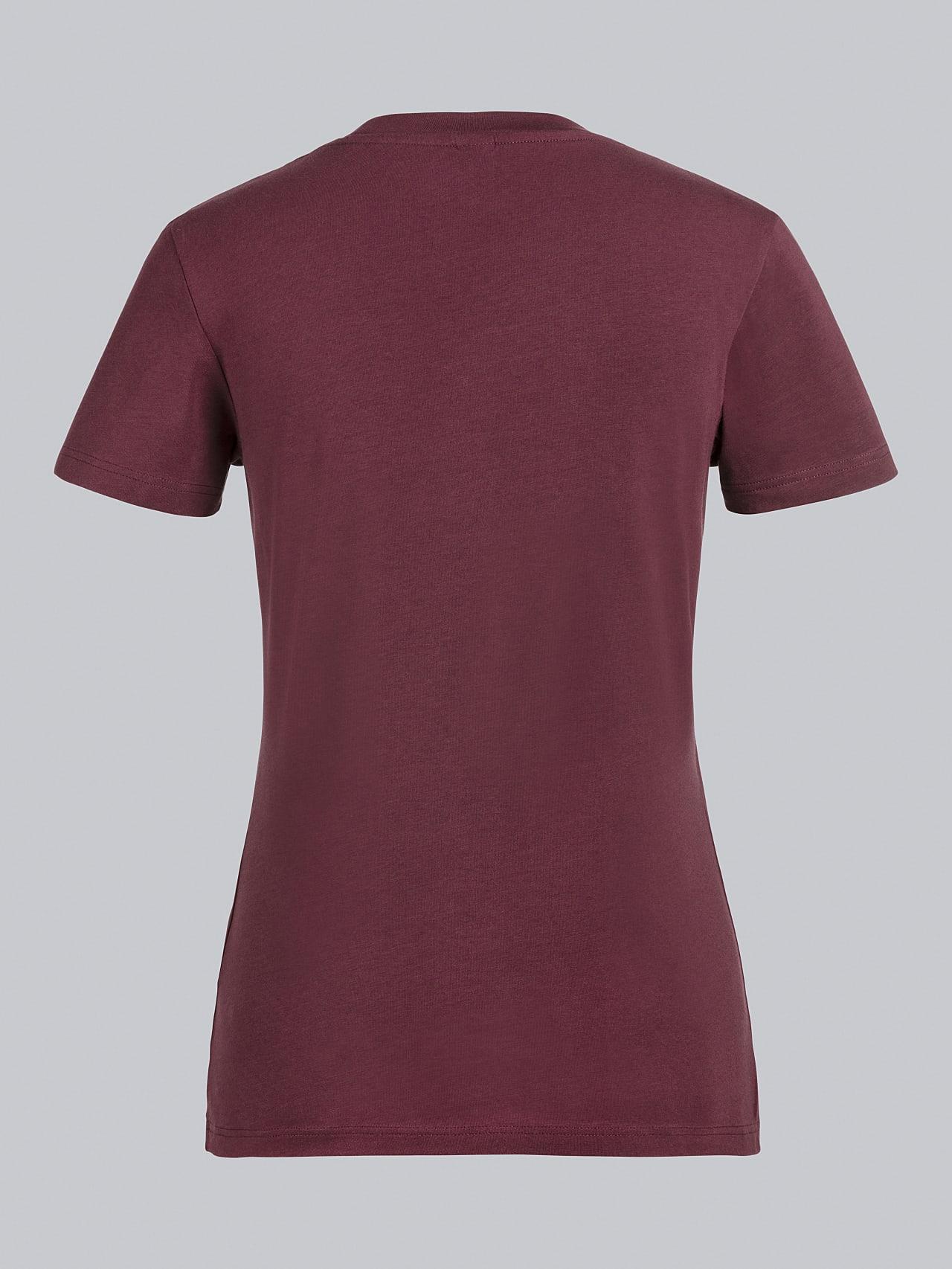 JANPA V1.Y5.02 Logo Print T-Shirt bordeaux Left Alpha Tauri