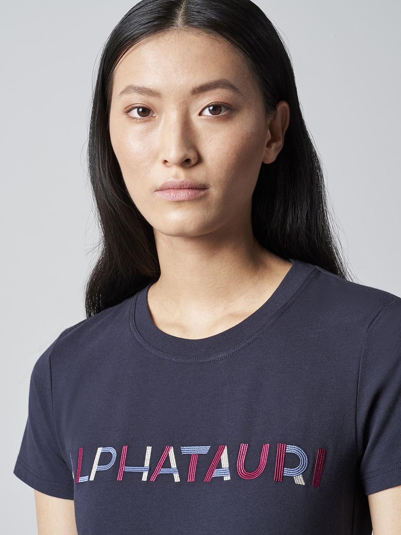 JOCTI V3.Y5.02 Logo T-Shirt navy Right Alpha Tauri
