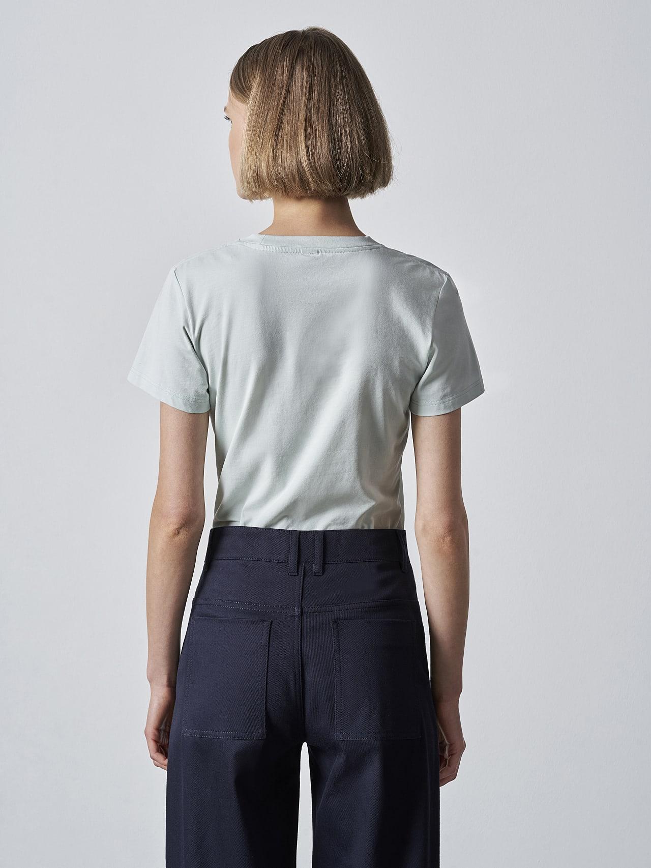 JOCTI V3.Y5.02 Logo T-Shirt Pale Blue  Front Main Alpha Tauri