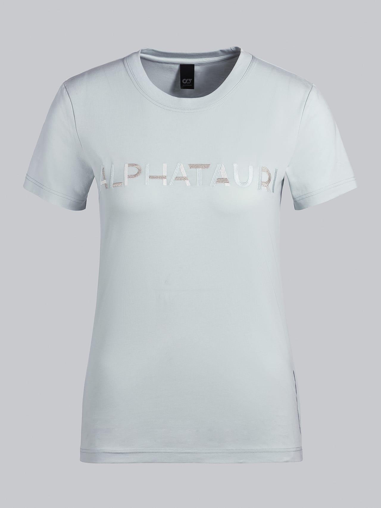 JOCTI V3.Y5.02 Logo T-Shirt Pale Blue  Back Alpha Tauri