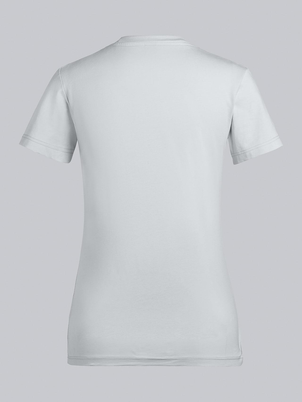 JOCTI V3.Y5.02 Logo T-Shirt Pale Blue  Left Alpha Tauri